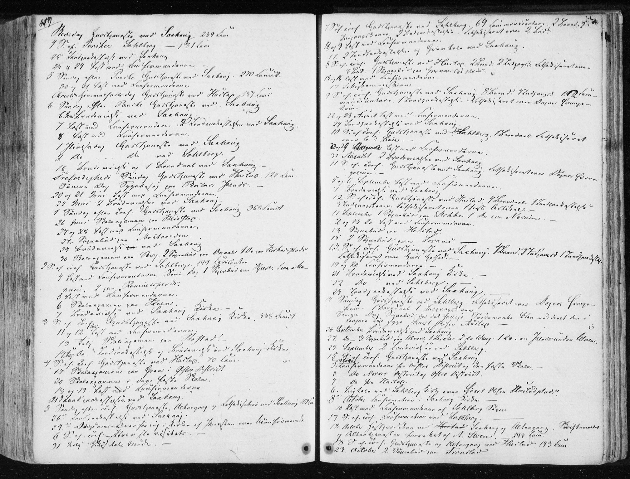 SAT, Ministerialprotokoller, klokkerbøker og fødselsregistre - Nord-Trøndelag, 730/L0280: Ministerialbok nr. 730A07 /1, 1840-1854, s. 459
