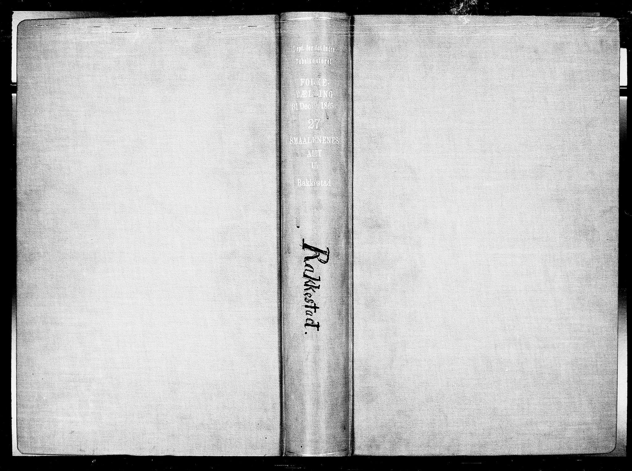 RA, Folketelling 1865 for 0128P Rakkestad prestegjeld, 1865, s. 2