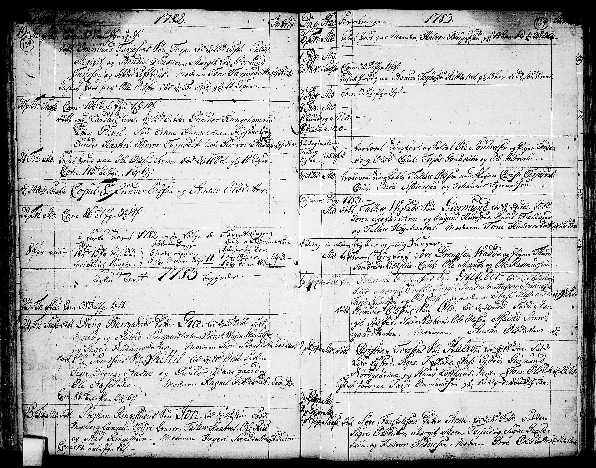 SAKO, Mo kirkebøker, F/Fa/L0002: Ministerialbok nr. I 2, 1766-1799, s. 138-139