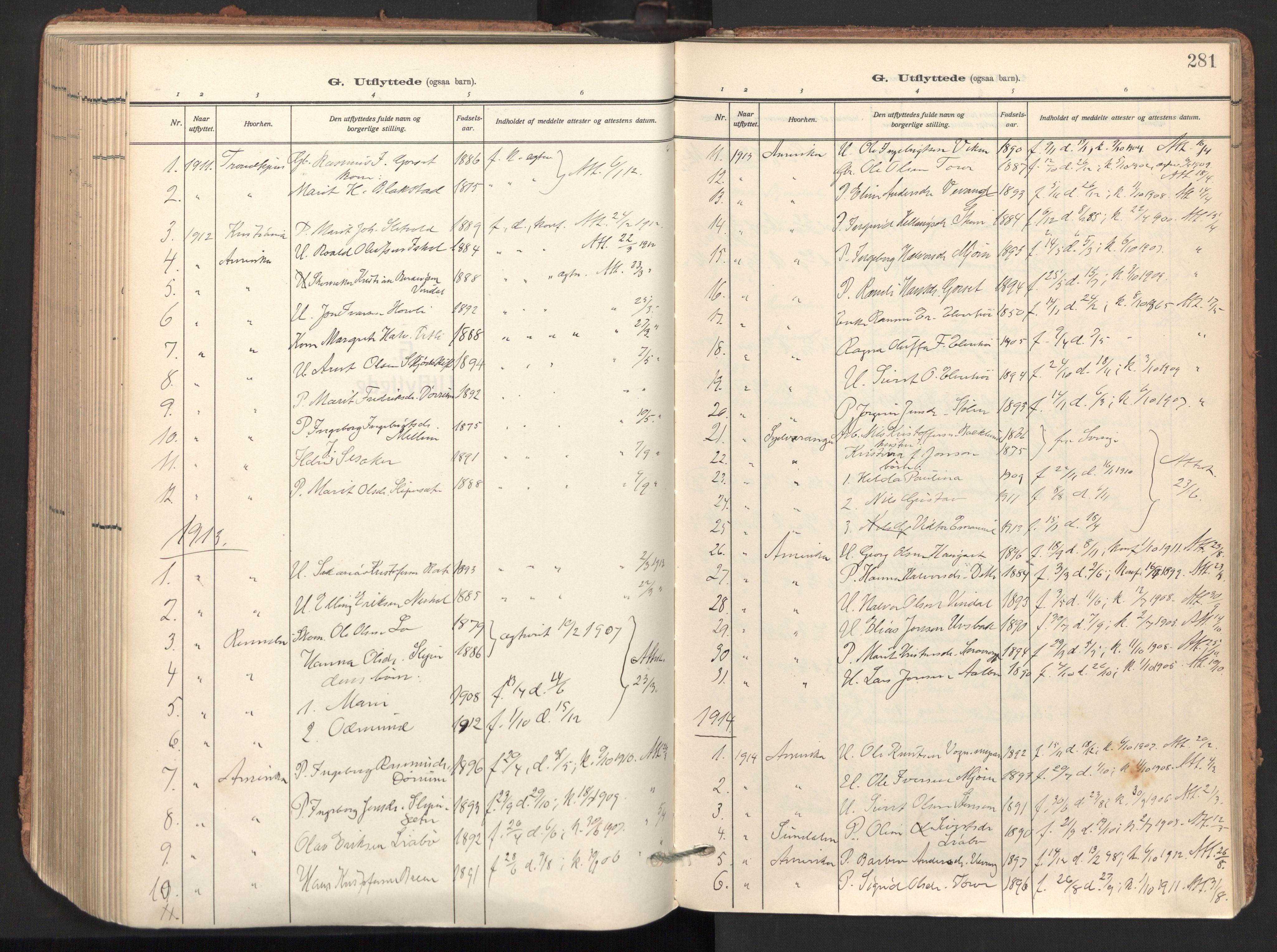 SAT, Ministerialprotokoller, klokkerbøker og fødselsregistre - Sør-Trøndelag, 678/L0909: Ministerialbok nr. 678A17, 1912-1930, s. 281