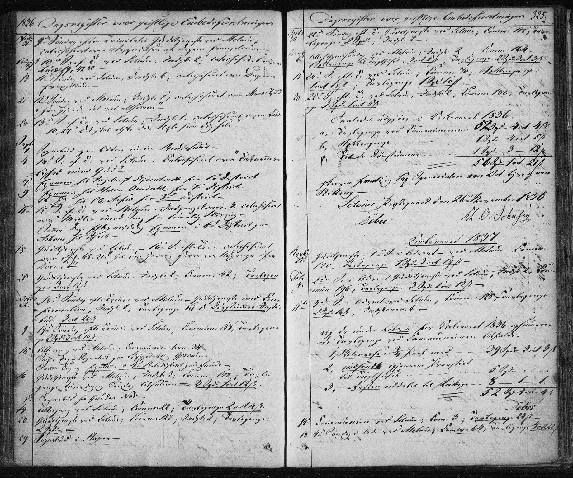 SAKO, Solum kirkebøker, F/Fa/L0005: Ministerialbok nr. I 5, 1833-1843, s. 325