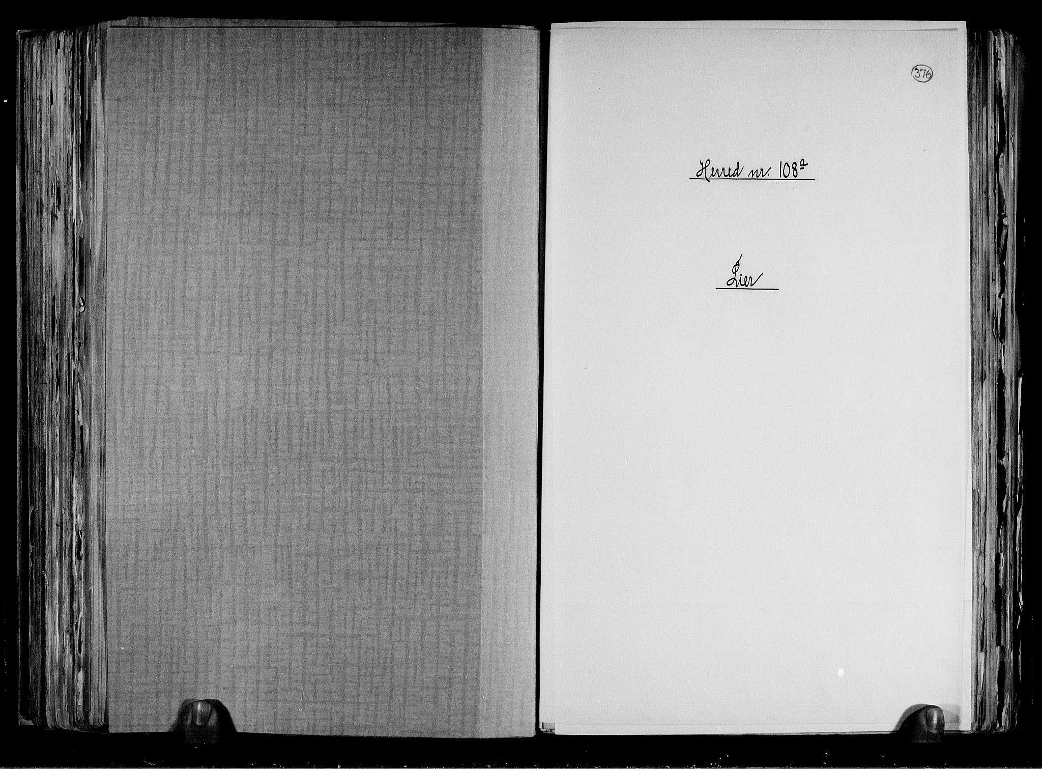 RA, Folketelling 1891 for 0626 Lier herred, 1891, s. 1