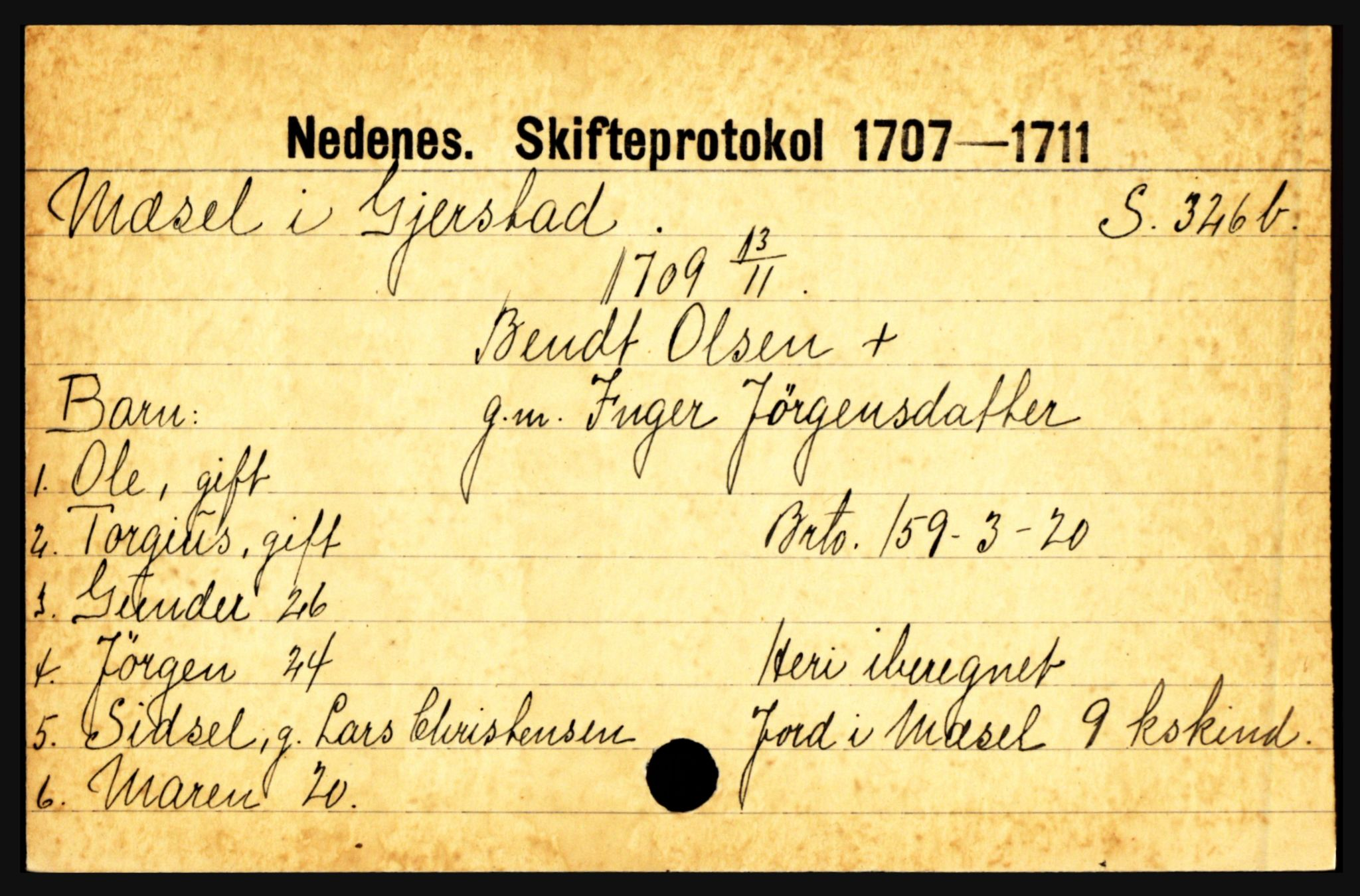 SAK, Nedenes sorenskriveri før 1824, H, s. 20627