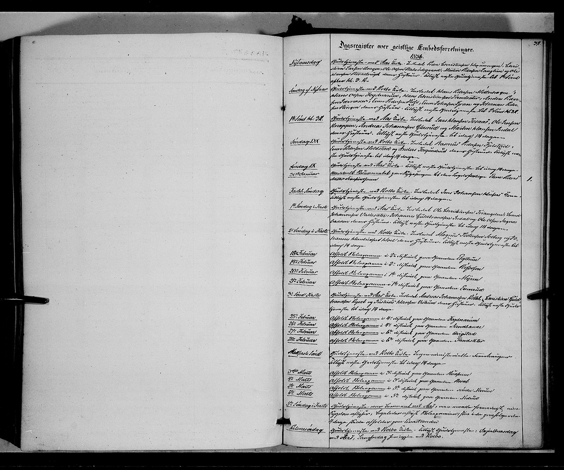 SAH, Vestre Toten prestekontor, H/Ha/Haa/L0006: Ministerialbok nr. 6, 1856-1861, s. 371