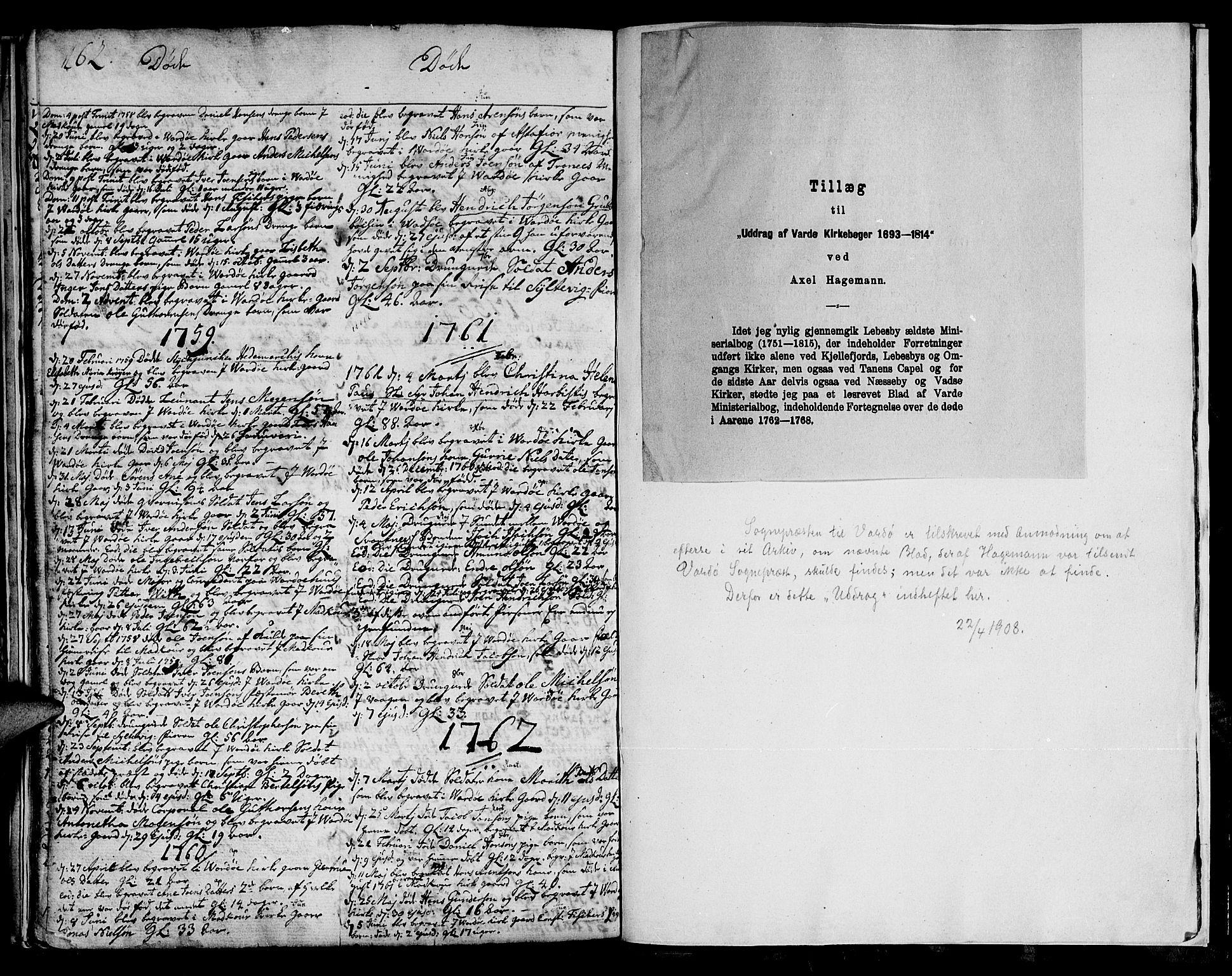 SATØ, Vadsø soknepreskontor, H/Ha/L0001kirke: Ministerialbok nr. 1, 1747-1768, s. 162