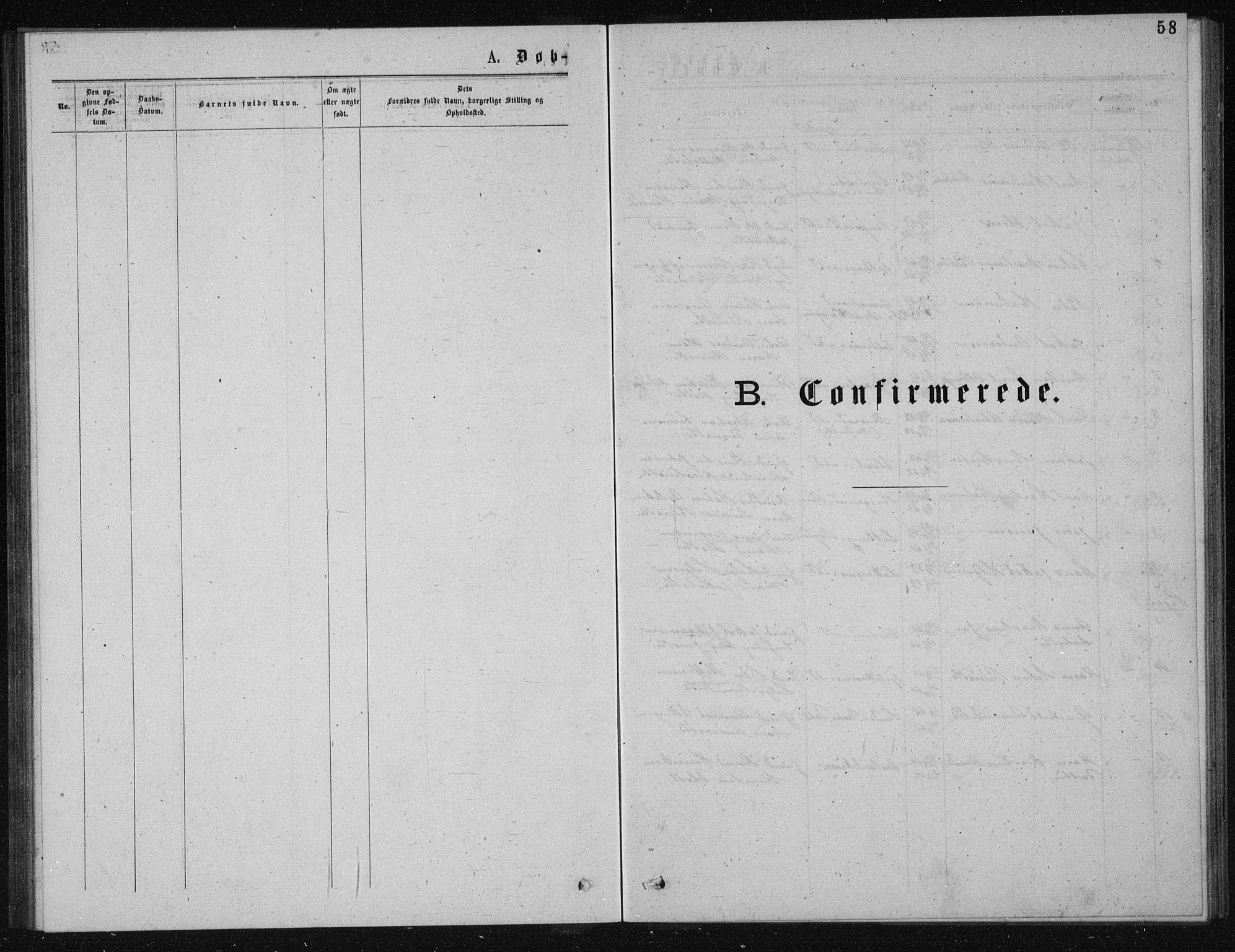 SAKO, Solum kirkebøker, G/Ga/L0005: Klokkerbok nr. I 5, 1877-1881, s. 58