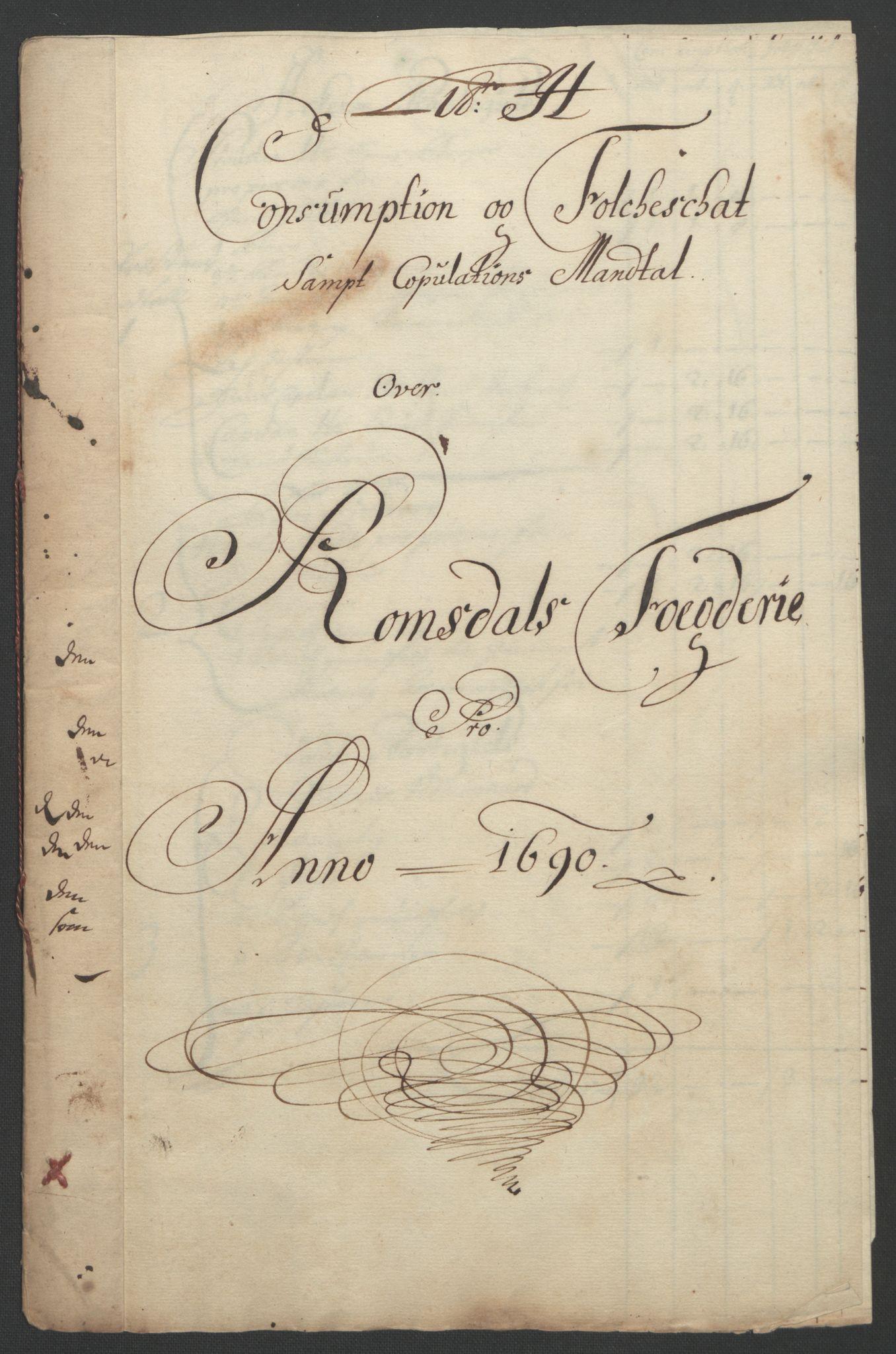 RA, Rentekammeret inntil 1814, Reviderte regnskaper, Fogderegnskap, R55/L3649: Fogderegnskap Romsdal, 1690-1691, s. 86
