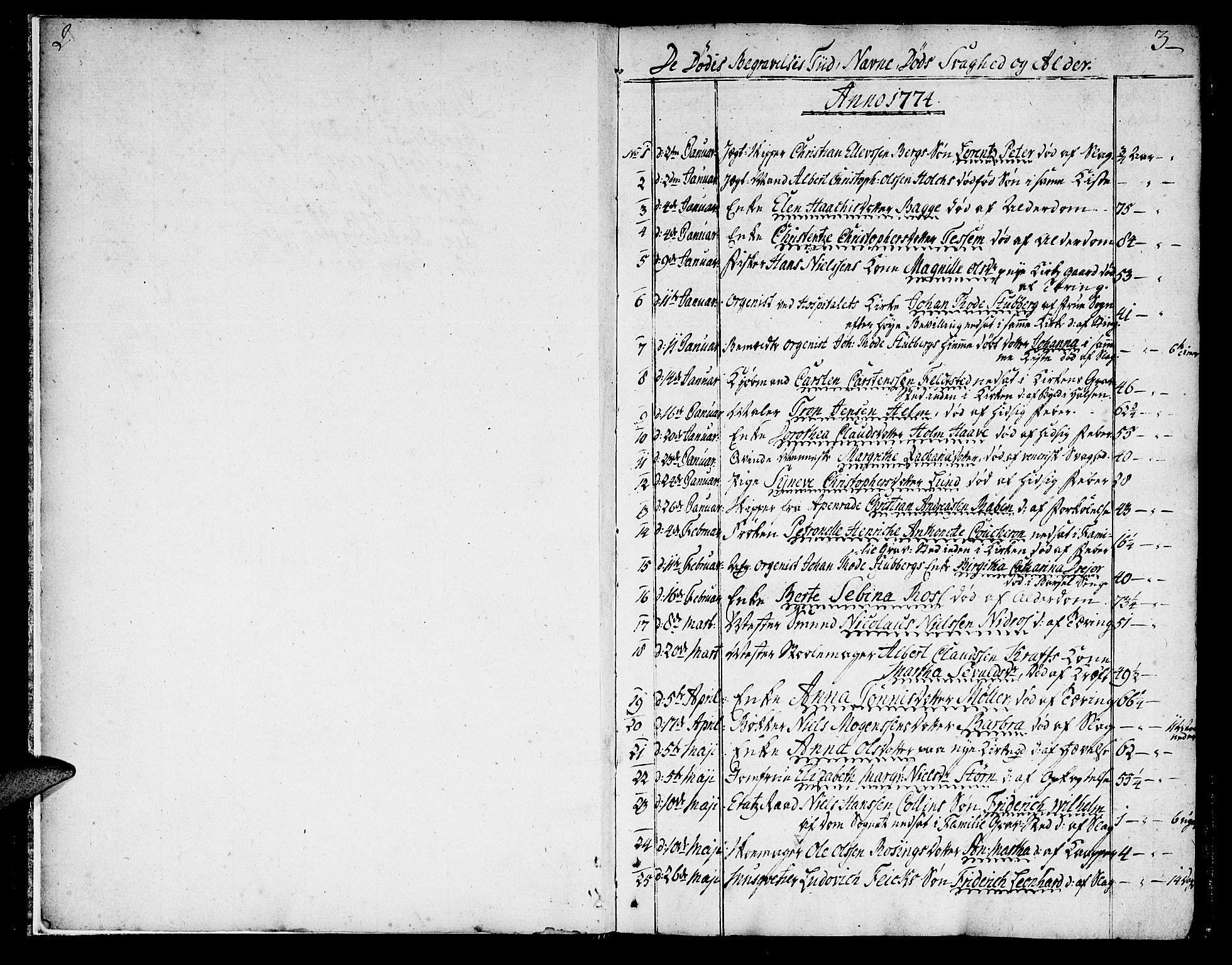 SAT, Ministerialprotokoller, klokkerbøker og fødselsregistre - Sør-Trøndelag, 602/L0106: Ministerialbok nr. 602A04, 1774-1814, s. 2-3