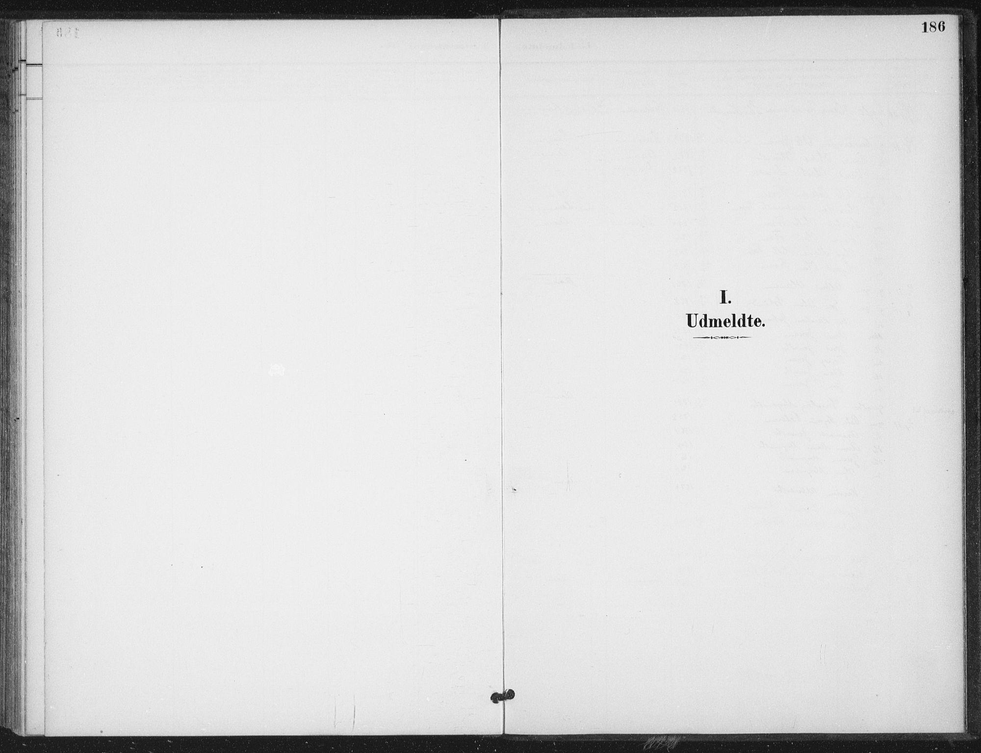 SAT, Ministerialprotokoller, klokkerbøker og fødselsregistre - Nord-Trøndelag, 714/L0131: Ministerialbok nr. 714A02, 1896-1918, s. 186