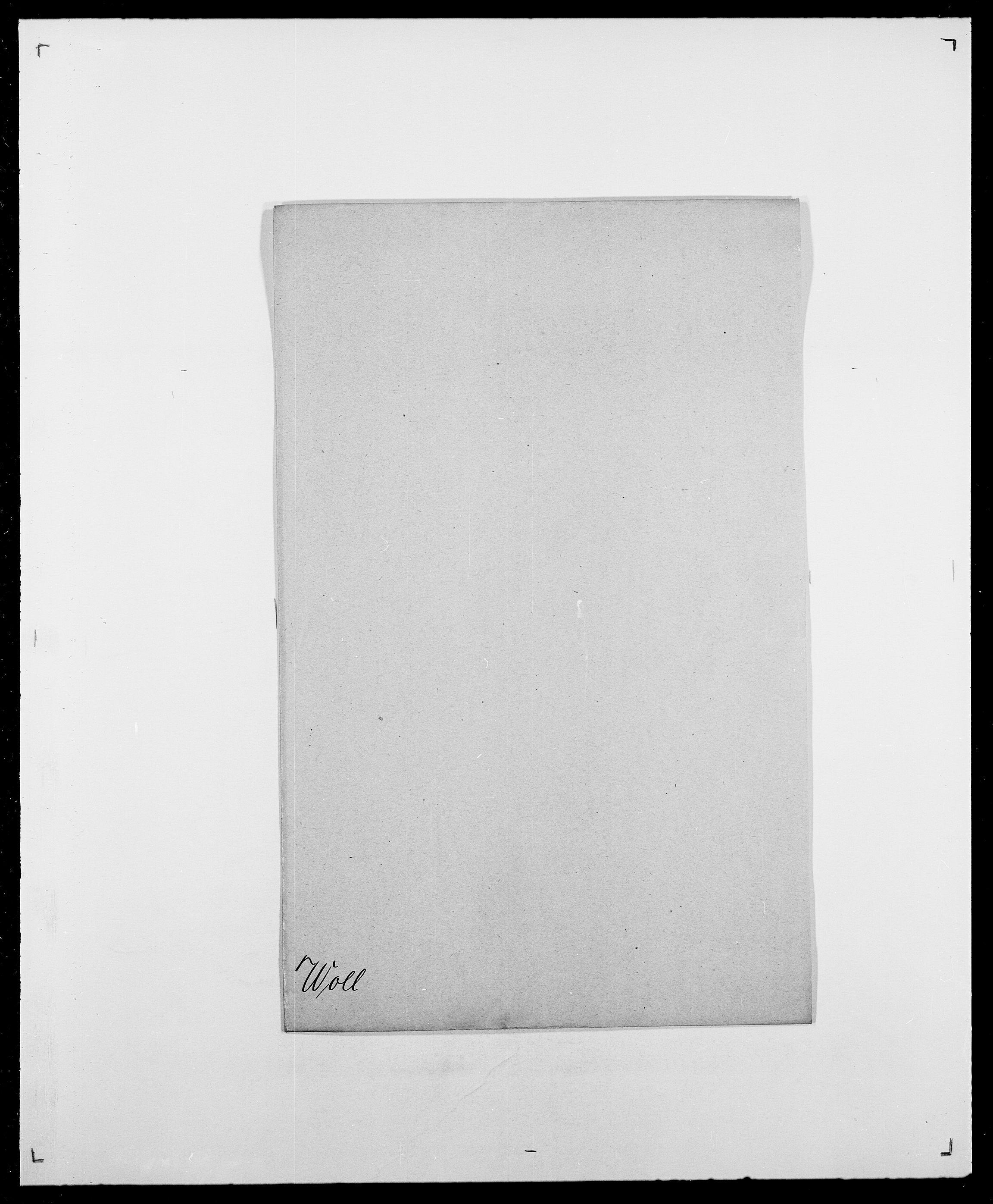SAO, Delgobe, Charles Antoine - samling, D/Da/L0042: Vilain - Wulf, Wulff, se også Wolf, s. 649