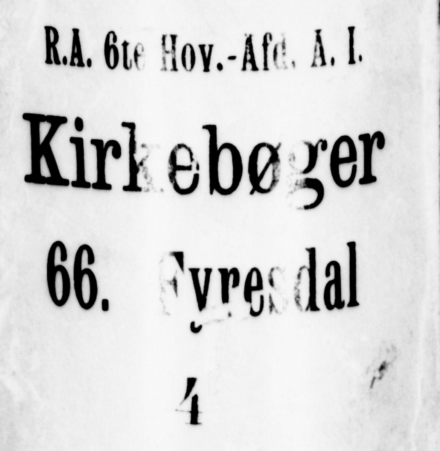 SAKO, Fyresdal kirkebøker, G/Ga/L0002: Klokkerbok nr. I 2, 1815-1857