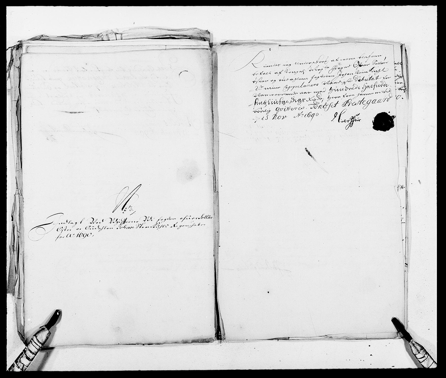 RA, Rentekammeret inntil 1814, Reviderte regnskaper, Fogderegnskap, R13/L0828: Fogderegnskap Solør, Odal og Østerdal, 1690, s. 319