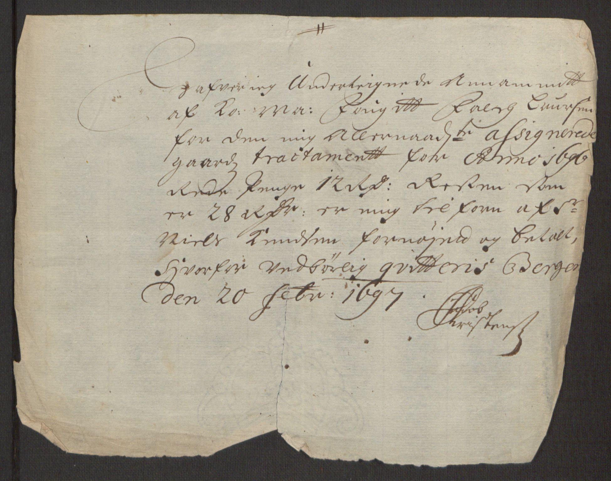 RA, Rentekammeret inntil 1814, Reviderte regnskaper, Fogderegnskap, R48/L2976: Fogderegnskap Sunnhordland og Hardanger, 1695-1696, s. 474