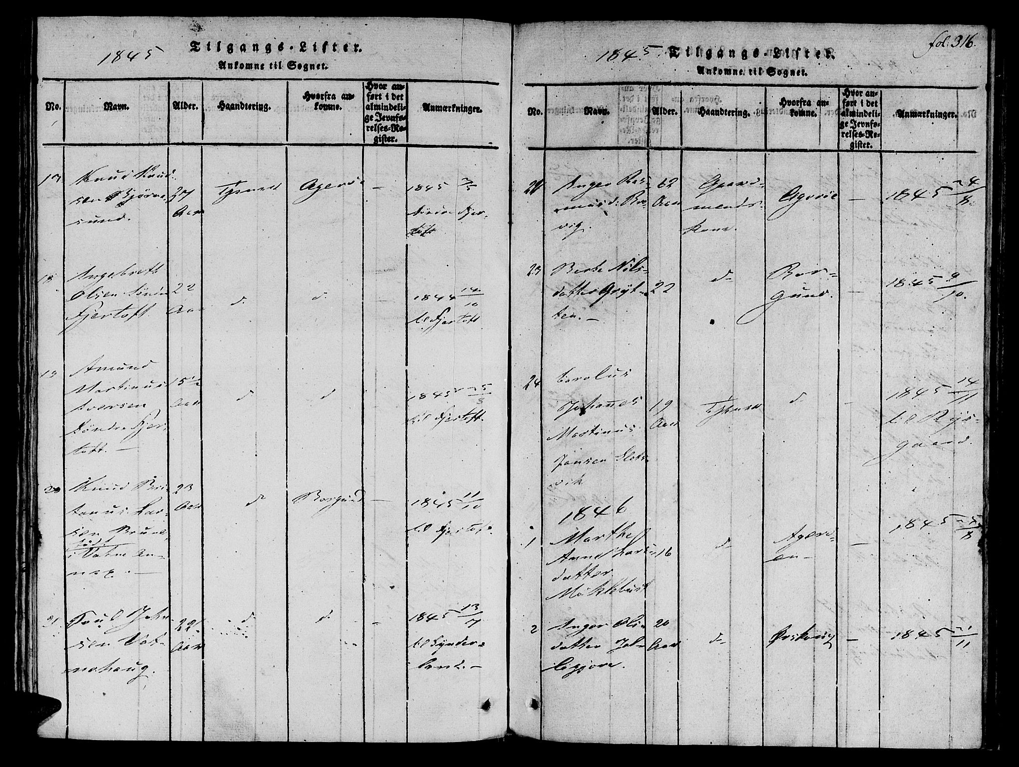 SAT, Ministerialprotokoller, klokkerbøker og fødselsregistre - Møre og Romsdal, 536/L0495: Ministerialbok nr. 536A04, 1818-1847, s. 316