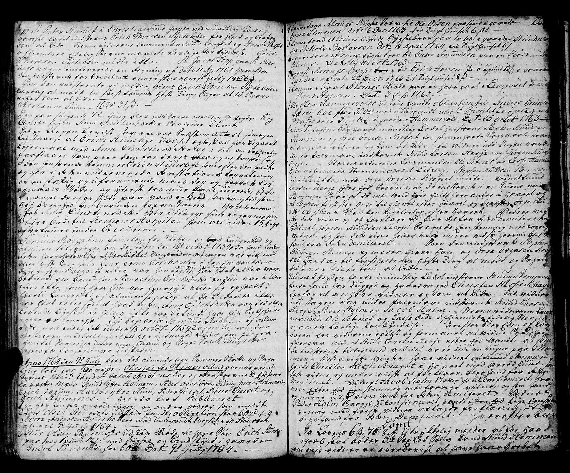 SAT, Romsdal sorenskriveri, 1/1A/L0014: Tingbok, 1757-1765, s. 228