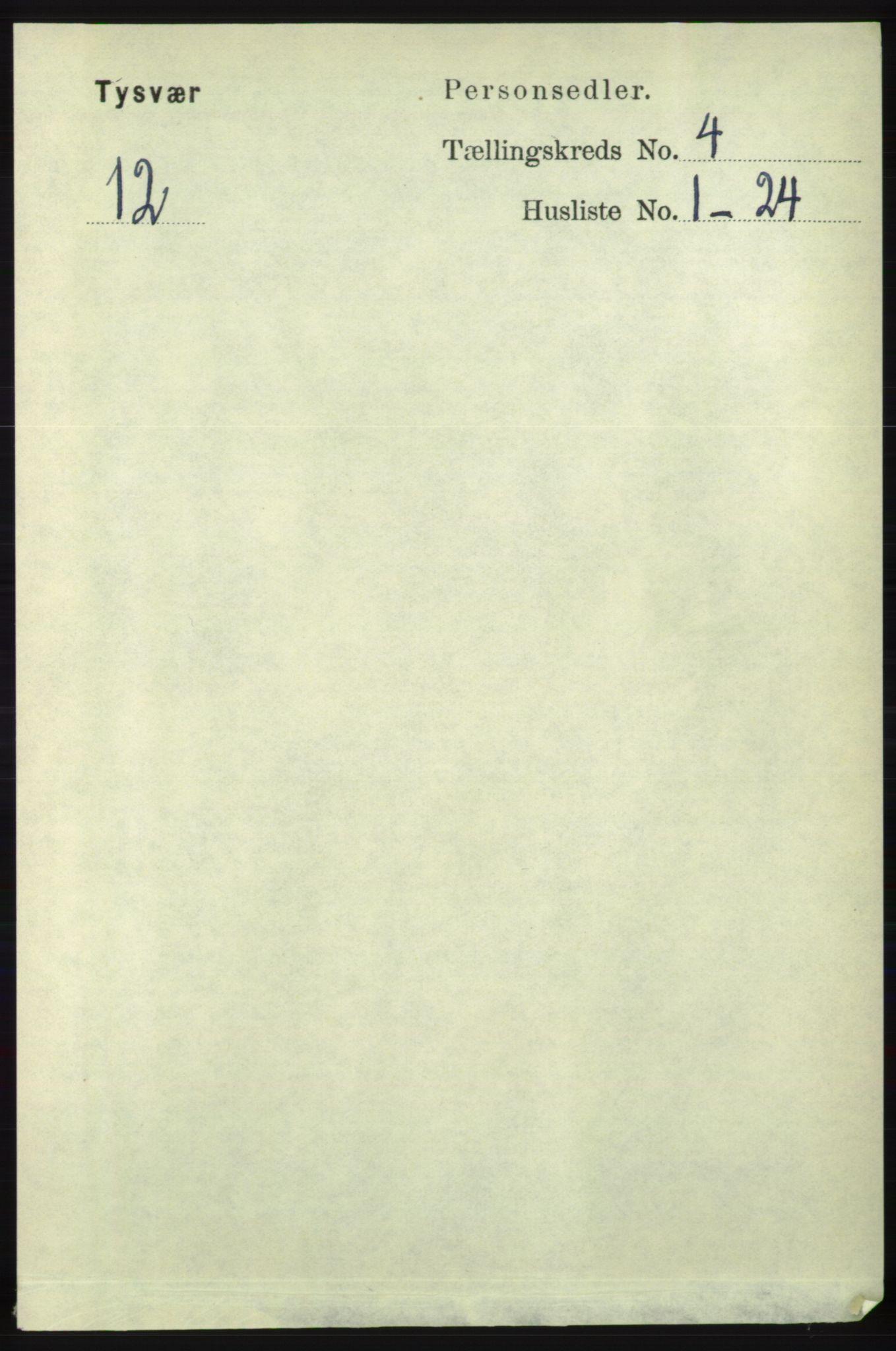 RA, Folketelling 1891 for 1146 Tysvær herred, 1891, s. 1510