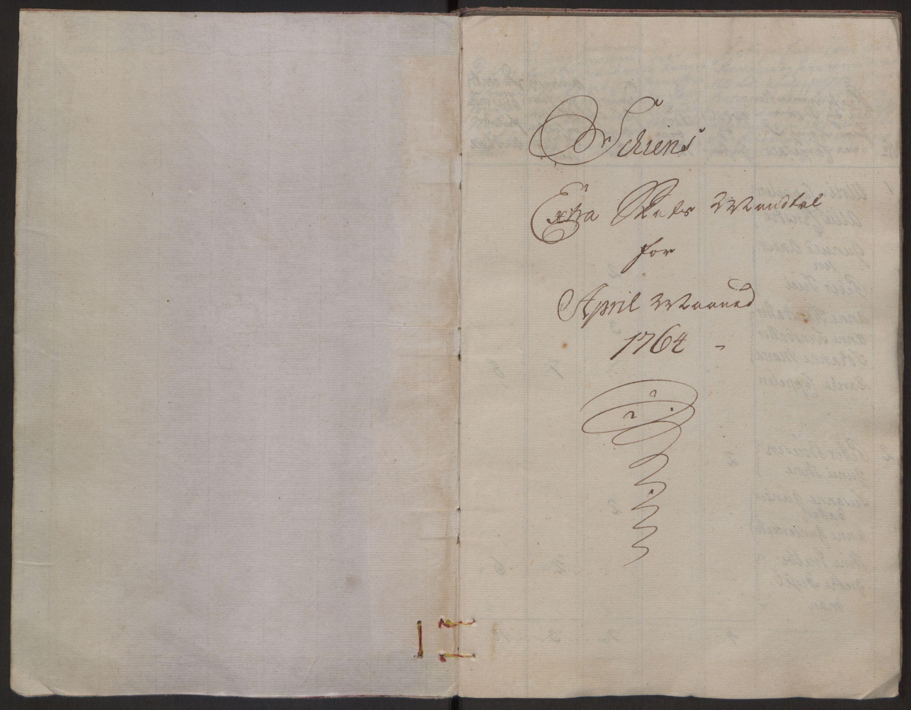 RA, Rentekammeret inntil 1814, Reviderte regnskaper, Byregnskaper, R/Rj/L0198: [J4] Kontribusjonsregnskap, 1762-1768, s. 196