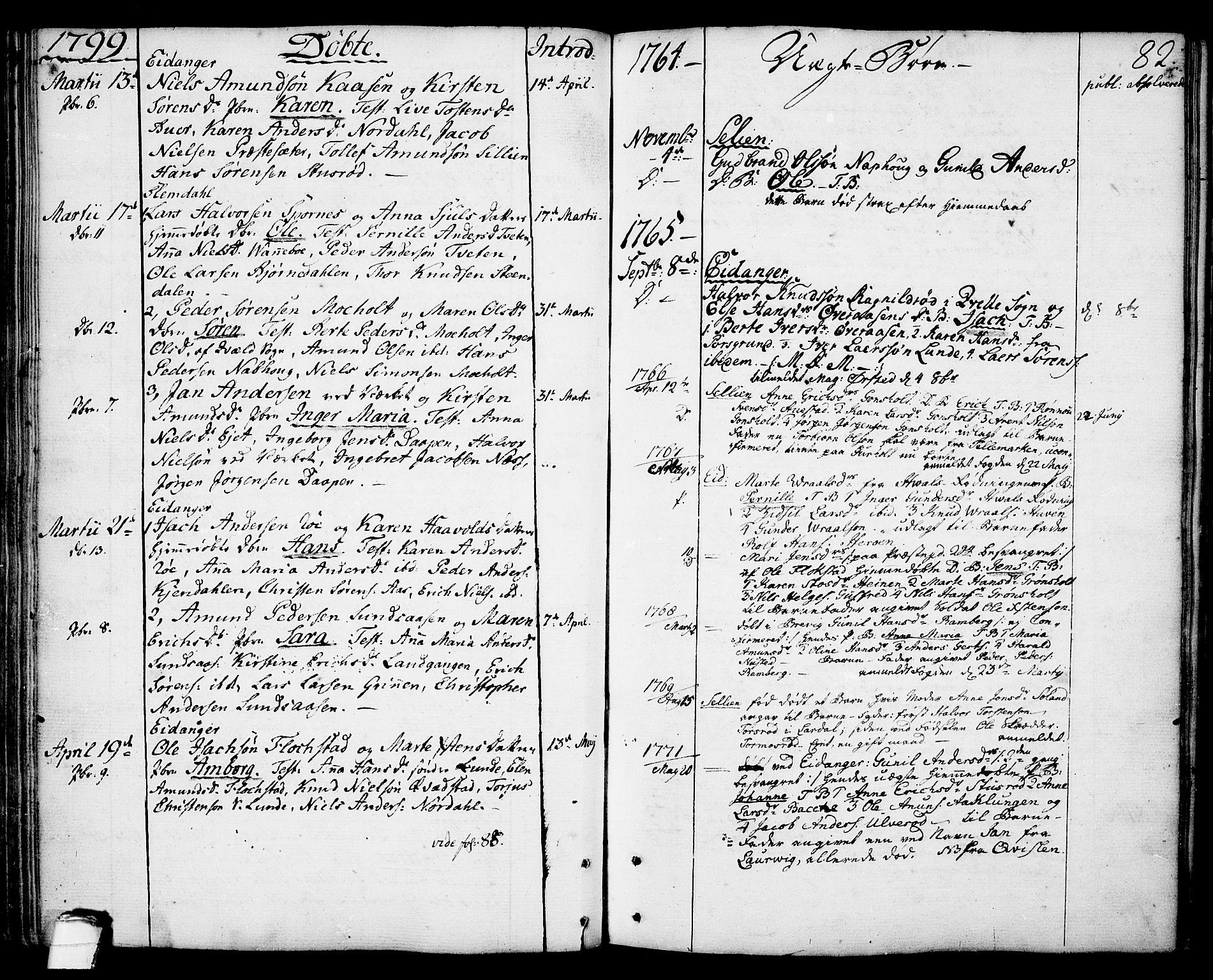 SAKO, Eidanger kirkebøker, F/Fa/L0006: Ministerialbok nr. 6, 1764-1814, s. 82