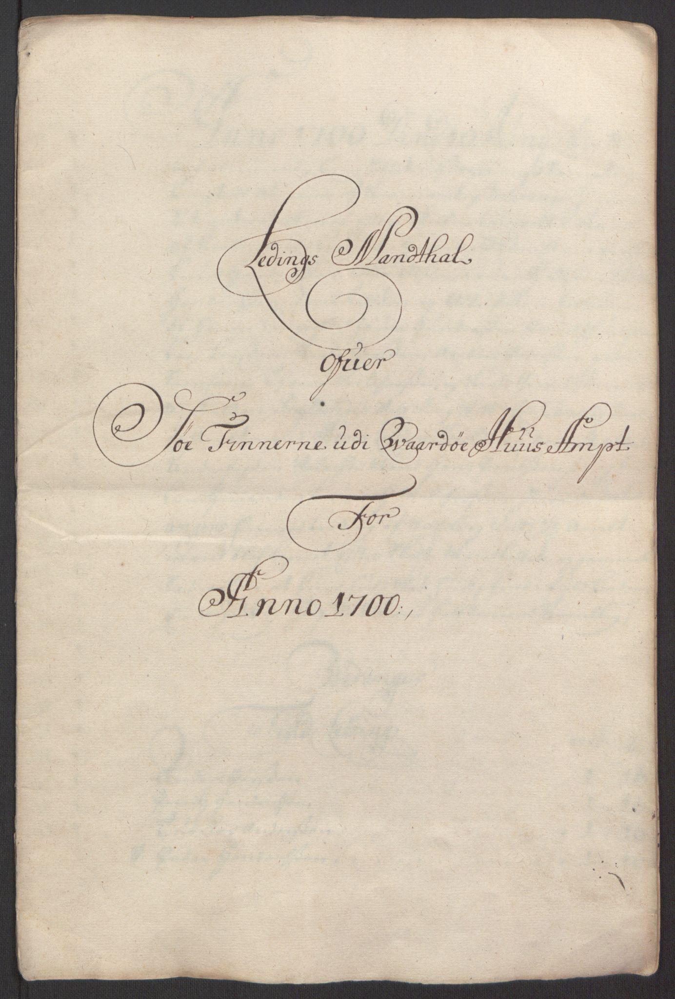 RA, Rentekammeret inntil 1814, Reviderte regnskaper, Fogderegnskap, R69/L4851: Fogderegnskap Finnmark/Vardøhus, 1691-1700, s. 438