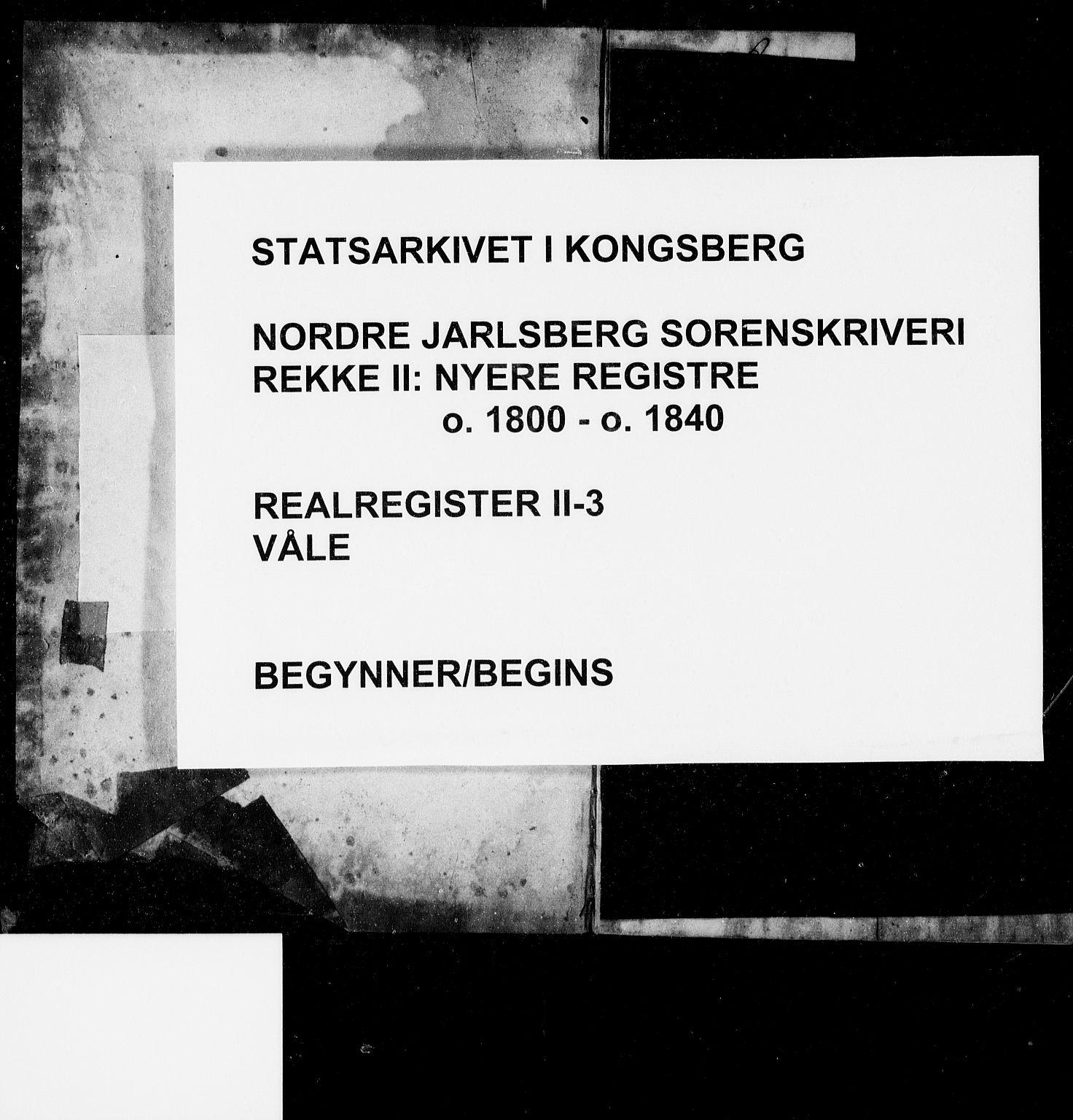 SAKO, Nordre Jarlsberg sorenskriveri, G/Gb/Gbb/L0003: Panteregister nr. II 3