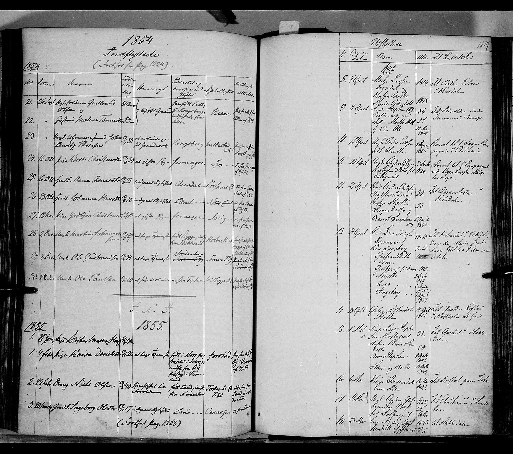 SAH, Gran prestekontor, Ministerialbok nr. 11, 1842-1856, s. 1226-1227