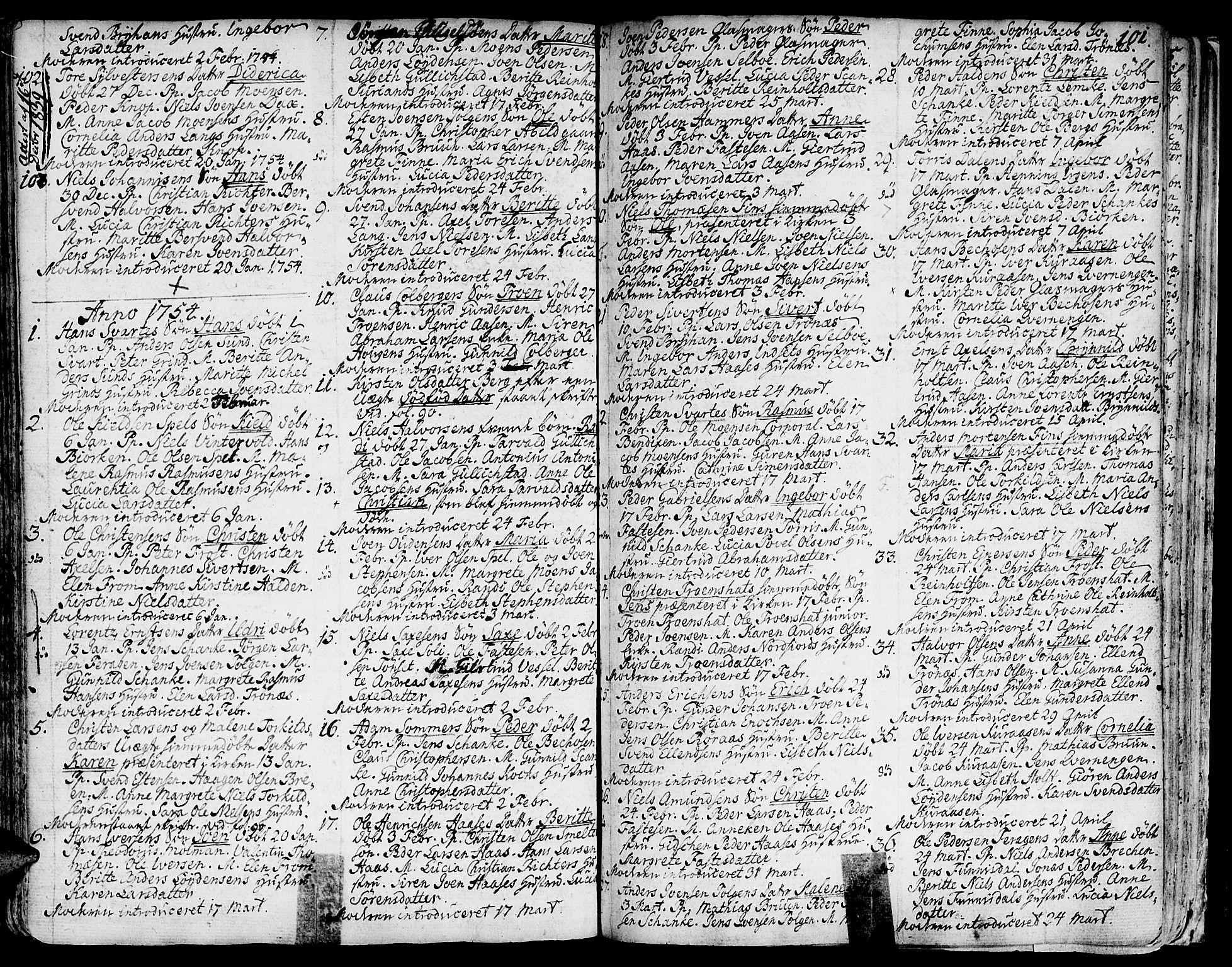 SAT, Ministerialprotokoller, klokkerbøker og fødselsregistre - Sør-Trøndelag, 681/L0925: Ministerialbok nr. 681A03, 1727-1766, s. 101