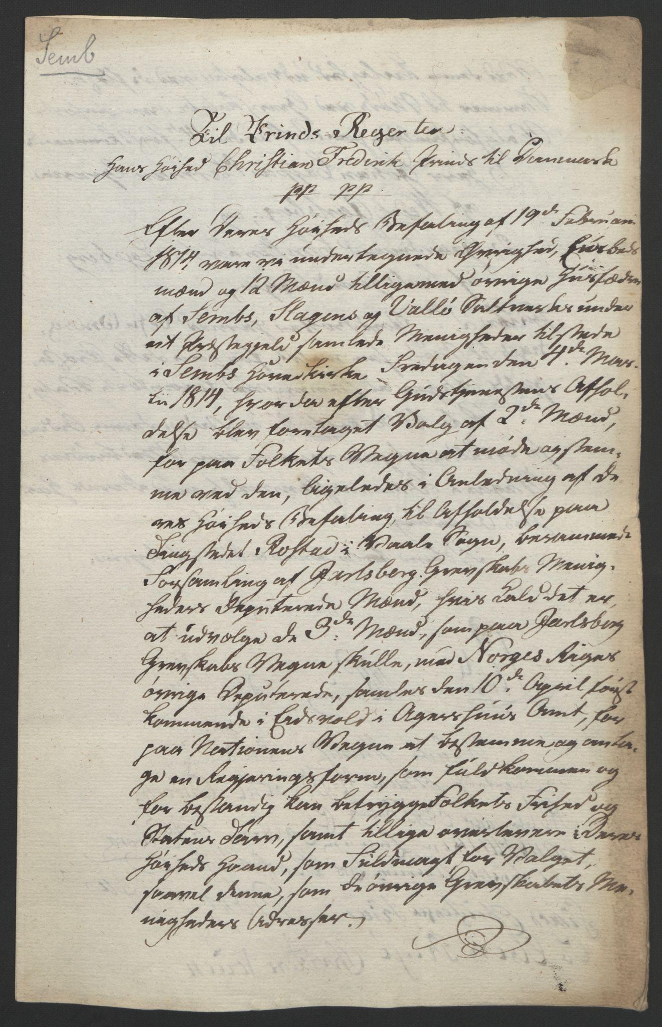 RA, Statsrådssekretariatet, D/Db/L0008: Fullmakter for Eidsvollsrepresentantene i 1814. , 1814, s. 20