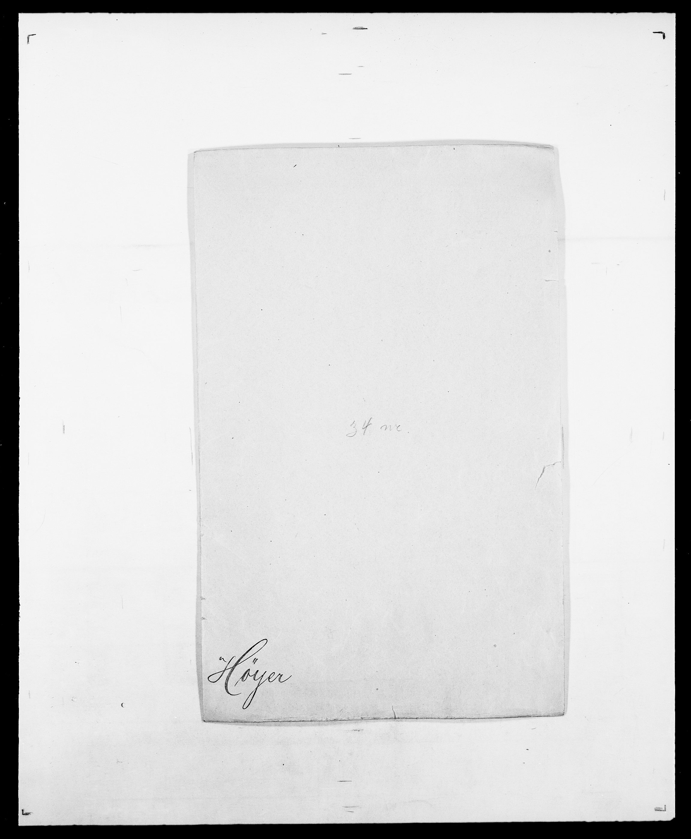 SAO, Delgobe, Charles Antoine - samling, D/Da/L0019: van der Hude - Joys, s. 415