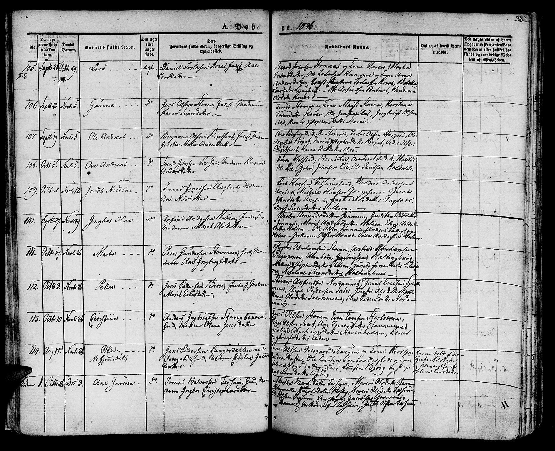 SAT, Ministerialprotokoller, klokkerbøker og fødselsregistre - Nord-Trøndelag, 741/L0390: Ministerialbok nr. 741A04, 1822-1836, s. 32