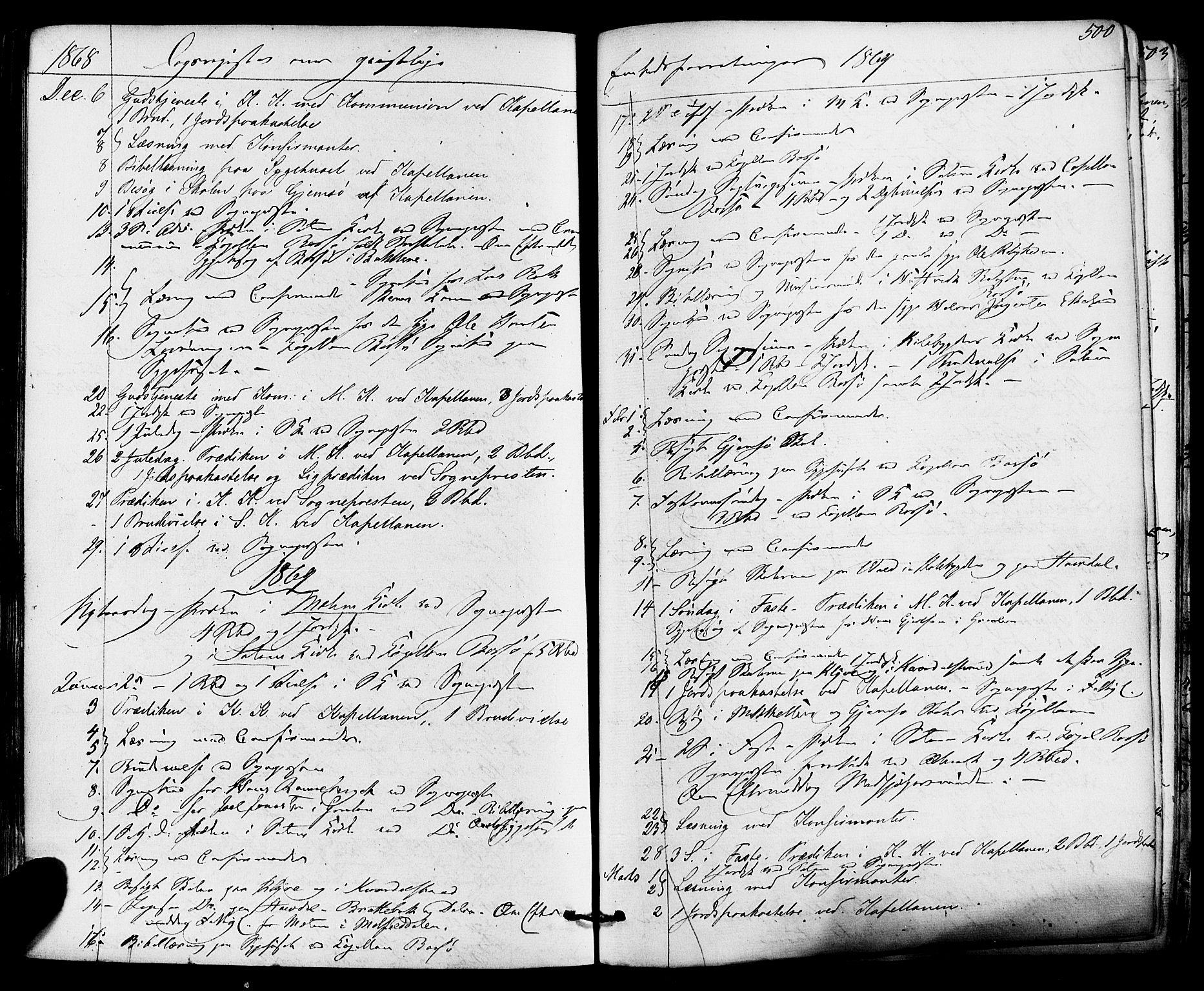 SAKO, Solum kirkebøker, F/Fa/L0008: Ministerialbok nr. I 8, 1865-1876, s. 500