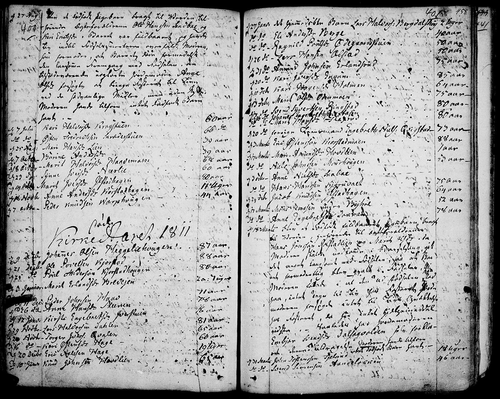 SAH, Fron prestekontor, H/Ha/Haa/L0001: Ministerialbok nr. 1, 1799-1816, s. 400-401