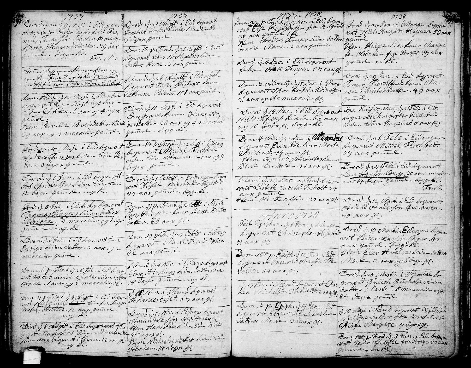 SAKO, Eidanger kirkebøker, F/Fa/L0004: Ministerialbok nr. 4, 1733-1759, s. 297-298