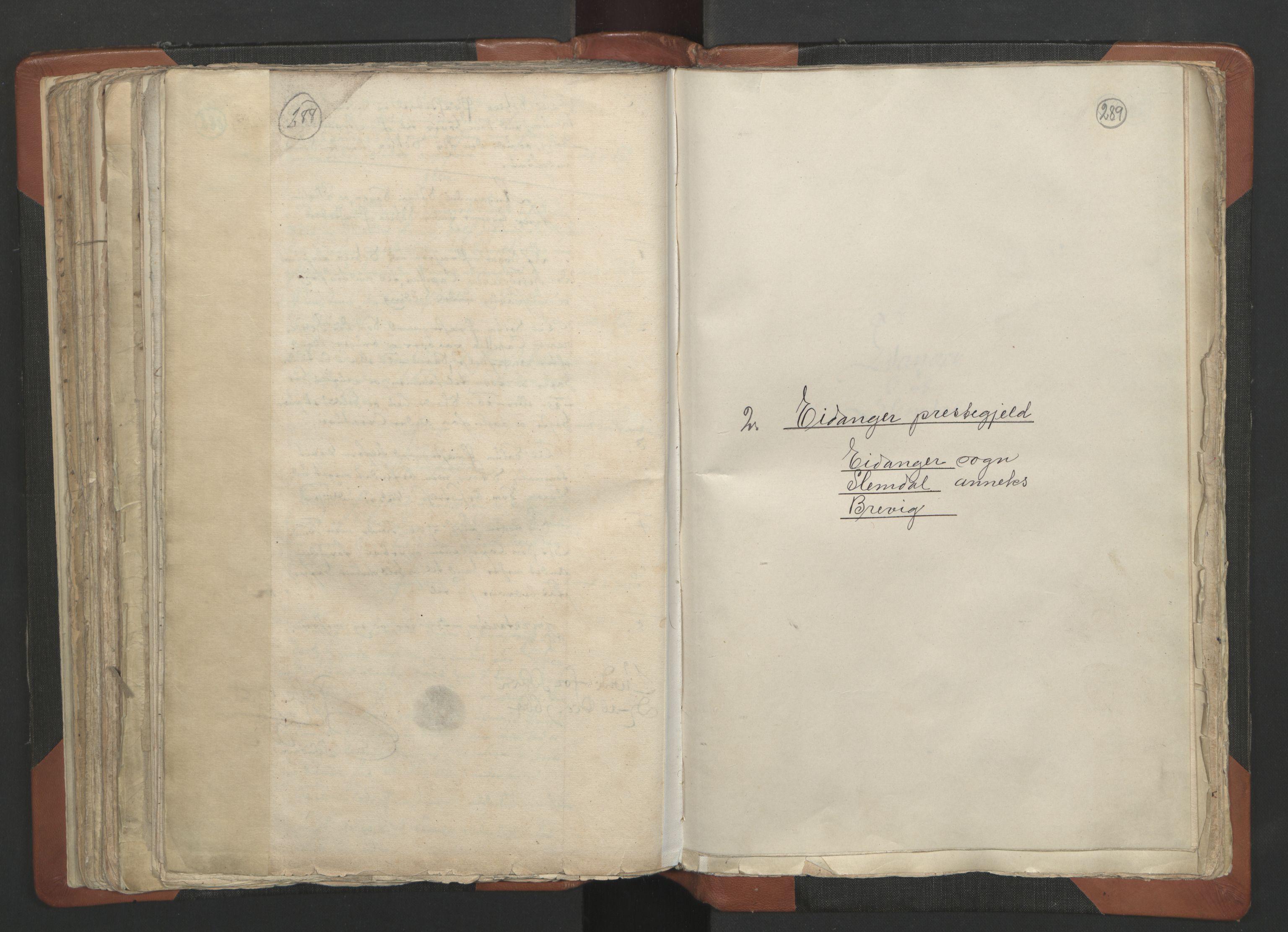 RA, Sogneprestenes manntall 1664-1666, nr. 12: Øvre Telemark prosti, Nedre Telemark prosti og Bamble prosti, 1664-1666, s. 288-289