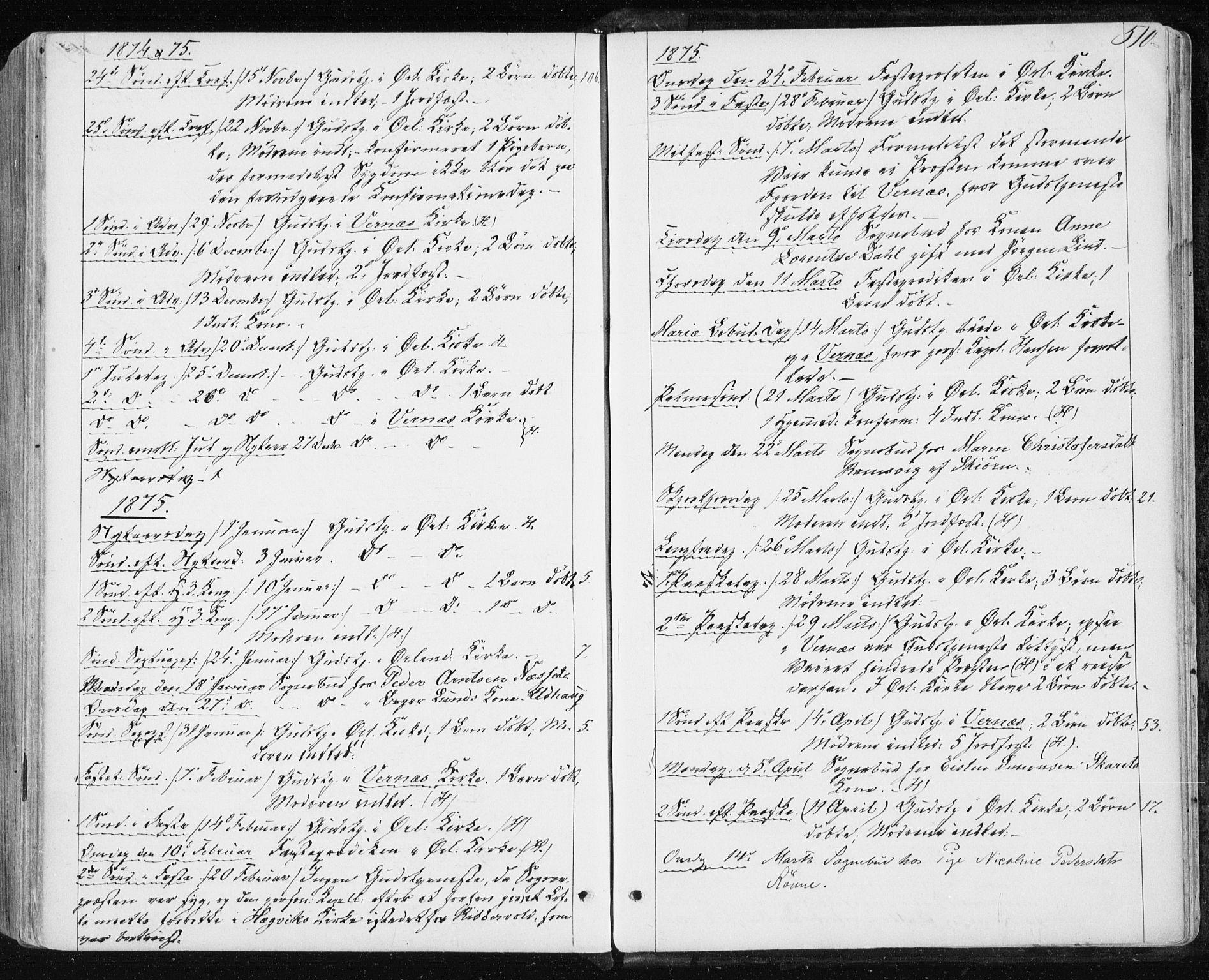 SAT, Ministerialprotokoller, klokkerbøker og fødselsregistre - Sør-Trøndelag, 659/L0737: Ministerialbok nr. 659A07, 1857-1875, s. 510