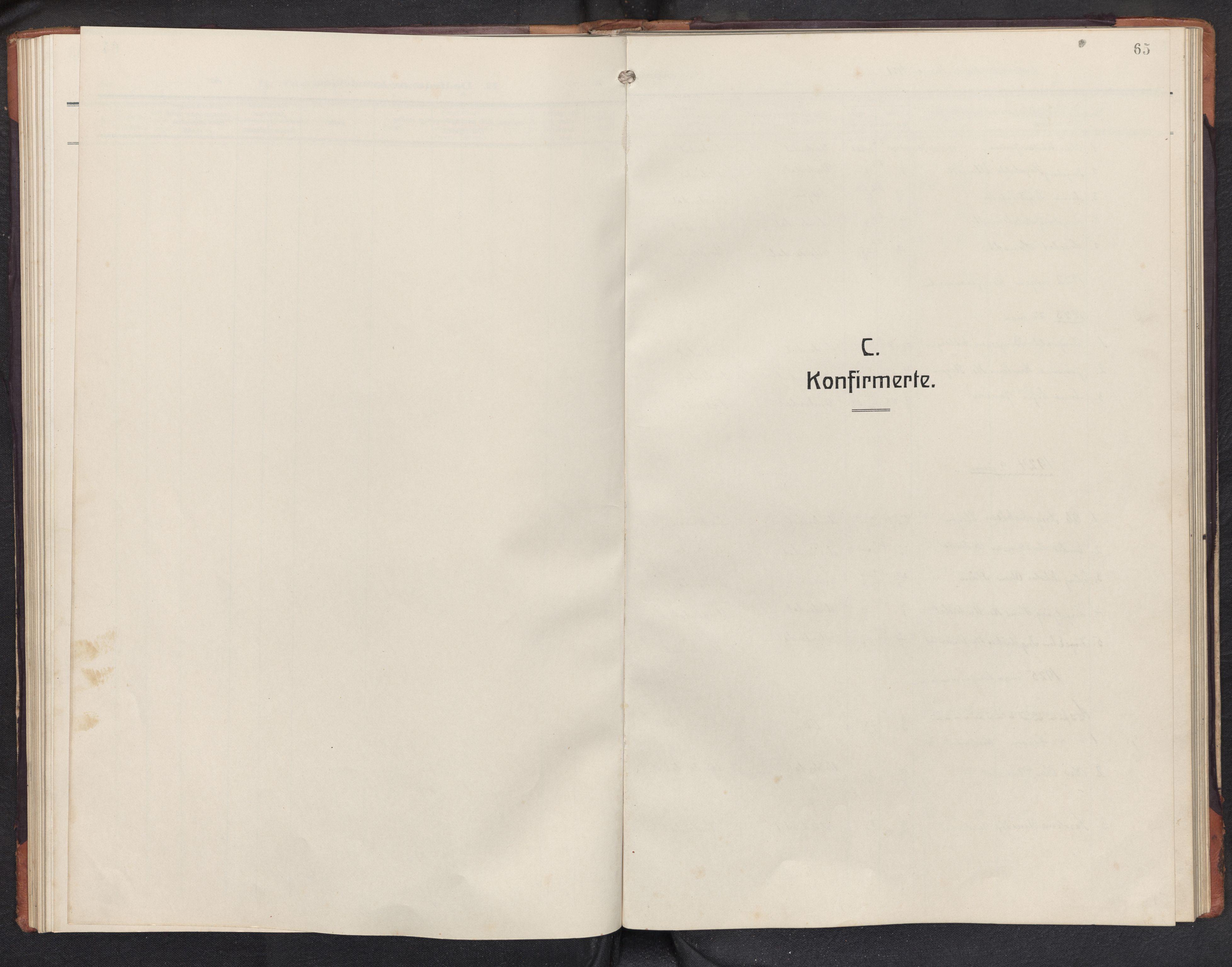SAB, Aurland sokneprestembete, H/Hb/Hbd/L0003: Klokkerbok nr. D 3, 1920-1968, s. 64b-65a
