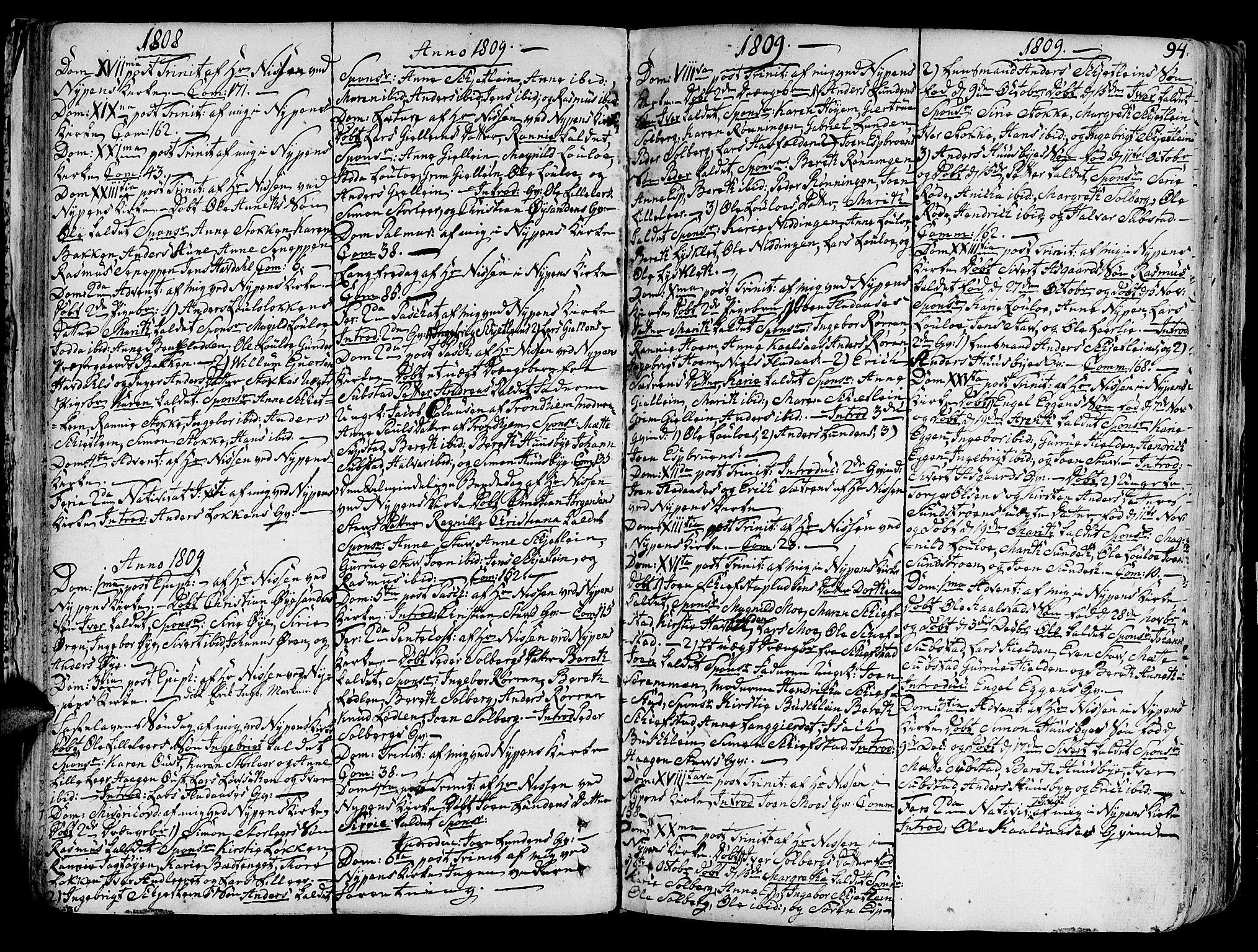 SAT, Ministerialprotokoller, klokkerbøker og fødselsregistre - Sør-Trøndelag, 691/L1063: Ministerialbok nr. 691A02 /3, 1768-1815, s. 94