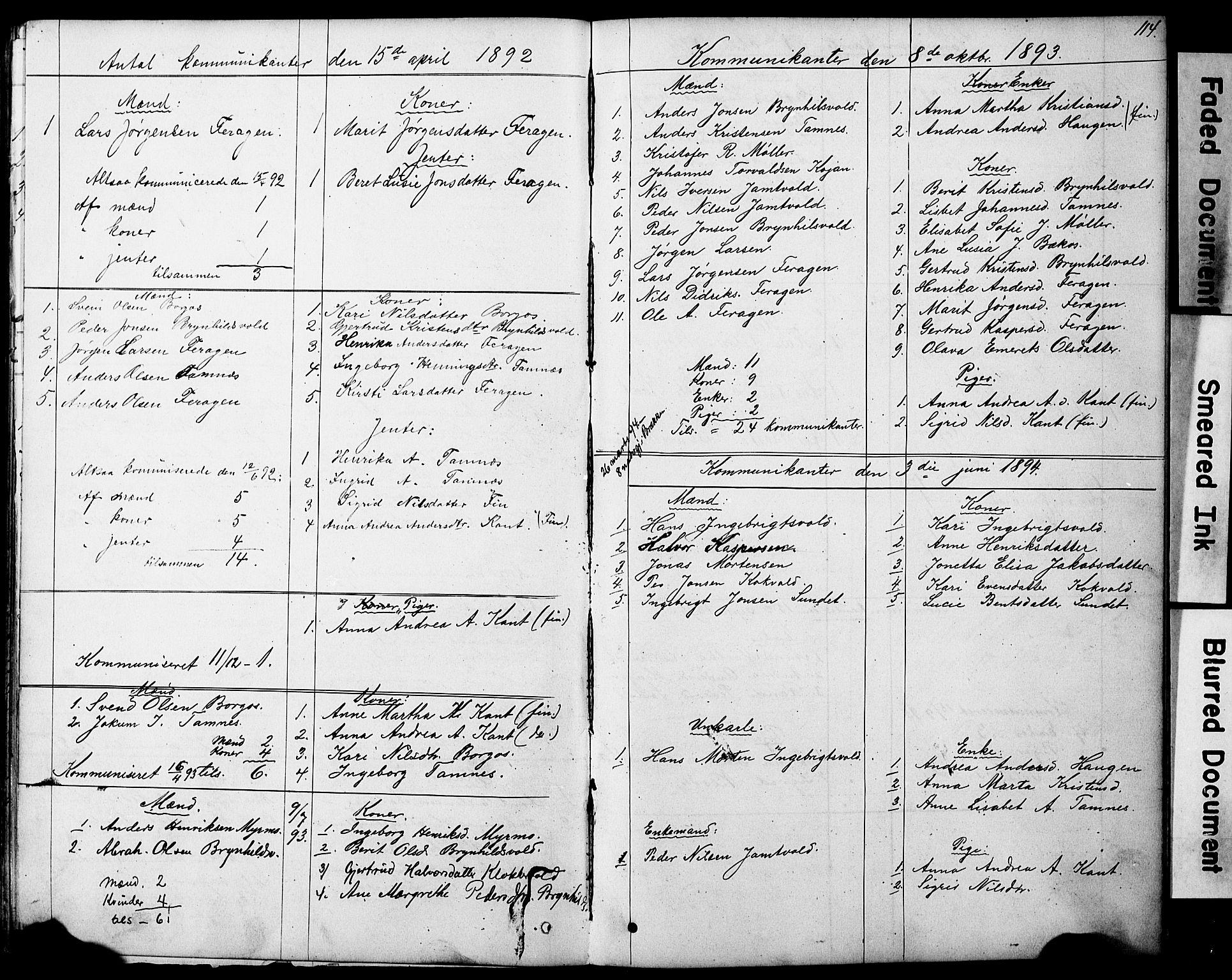 SAT, Ministerialprotokoller, klokkerbøker og fødselsregistre - Sør-Trøndelag, 683/L0949: Klokkerbok nr. 683C01, 1880-1896, s. 114