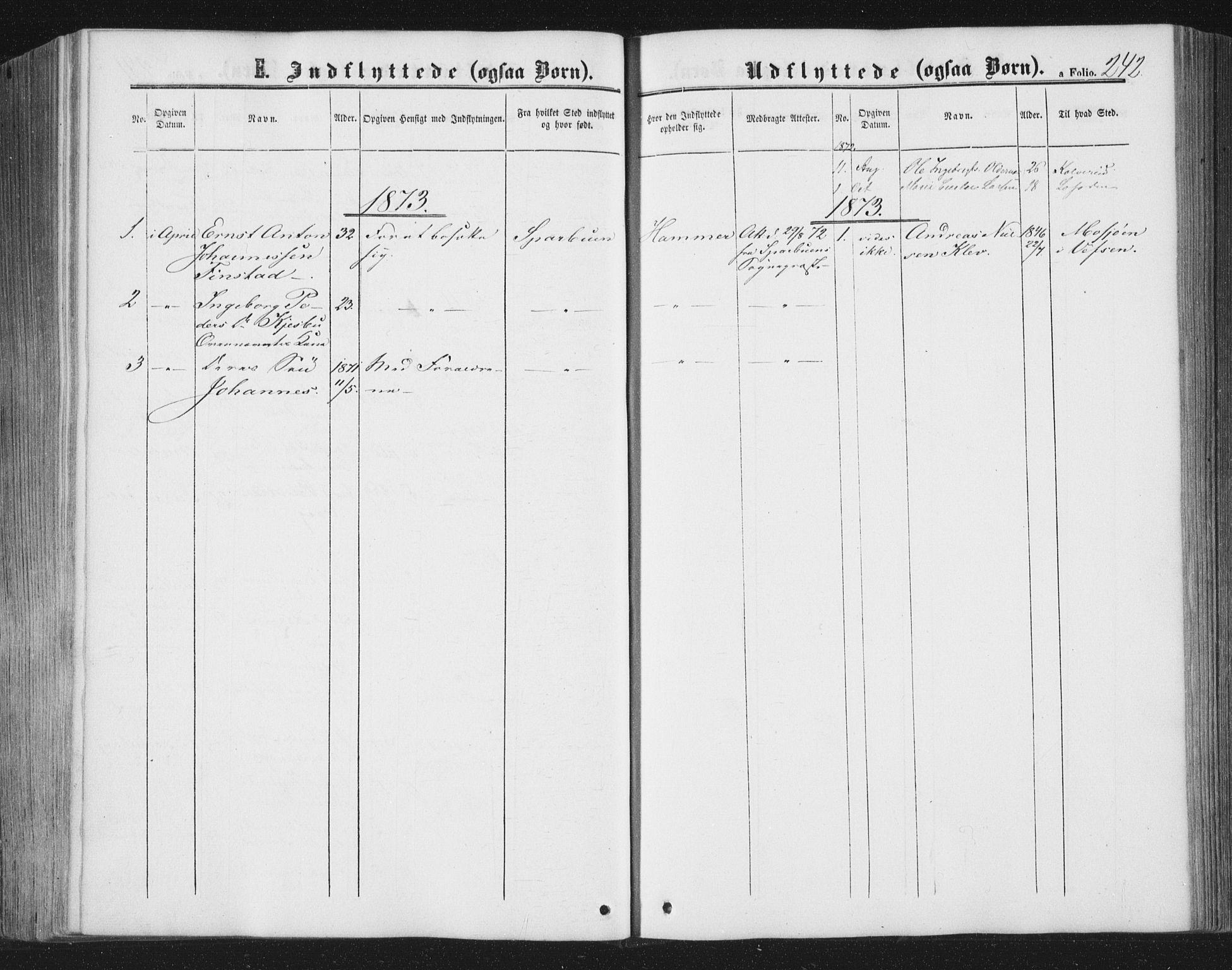 SAT, Ministerialprotokoller, klokkerbøker og fødselsregistre - Nord-Trøndelag, 749/L0472: Ministerialbok nr. 749A06, 1857-1873, s. 242
