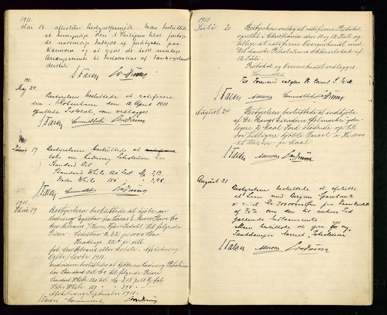 SAST, PA 1533 - A/S Vestlandske Petroleumscompani, A/Aa/L0001: Generalforsamlinger og styreprotokoller, 1907-1915, s. 42