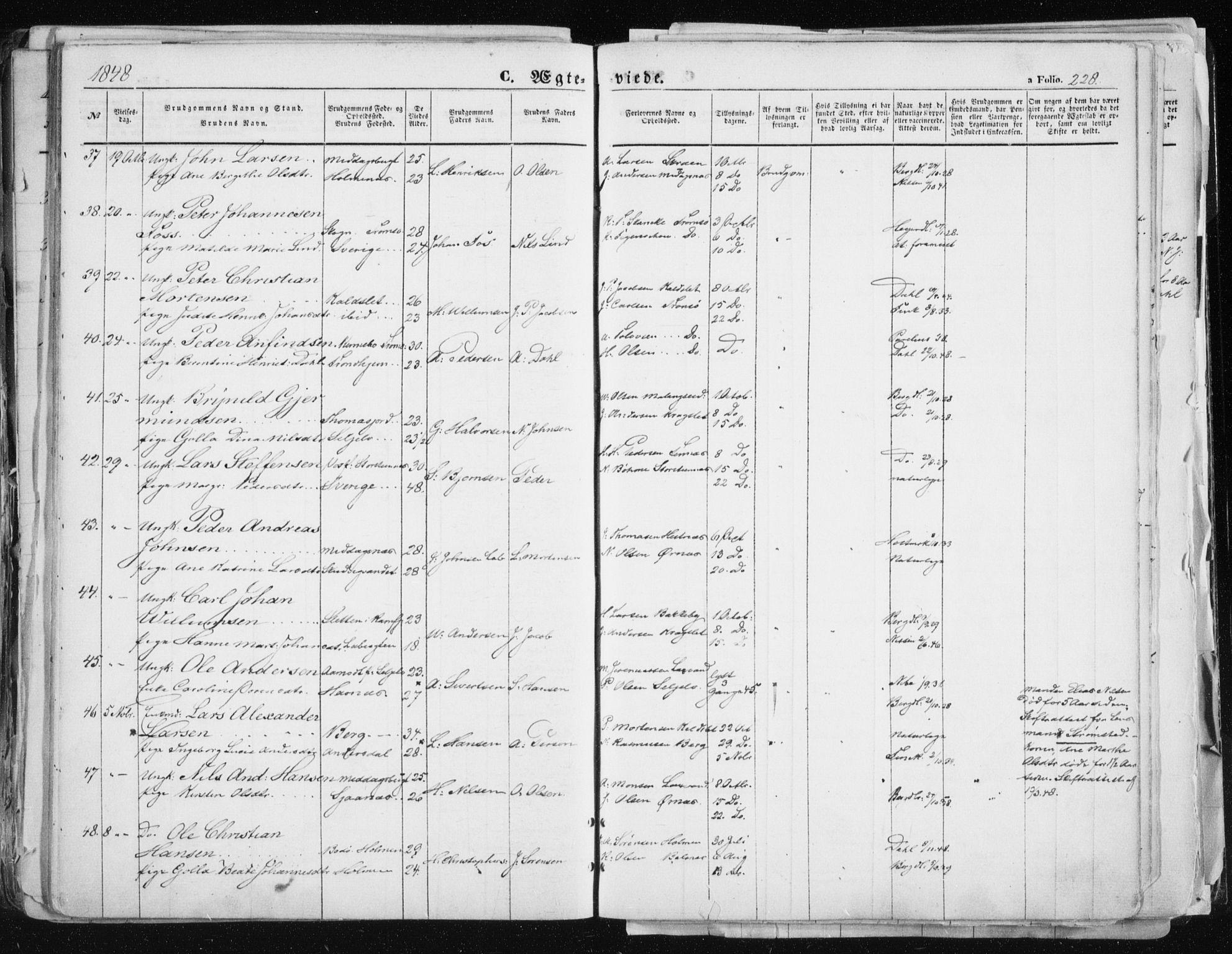 SATØ, Tromsø sokneprestkontor/stiftsprosti/domprosti, G/Ga/L0010kirke: Ministerialbok nr. 10, 1848-1855, s. 228