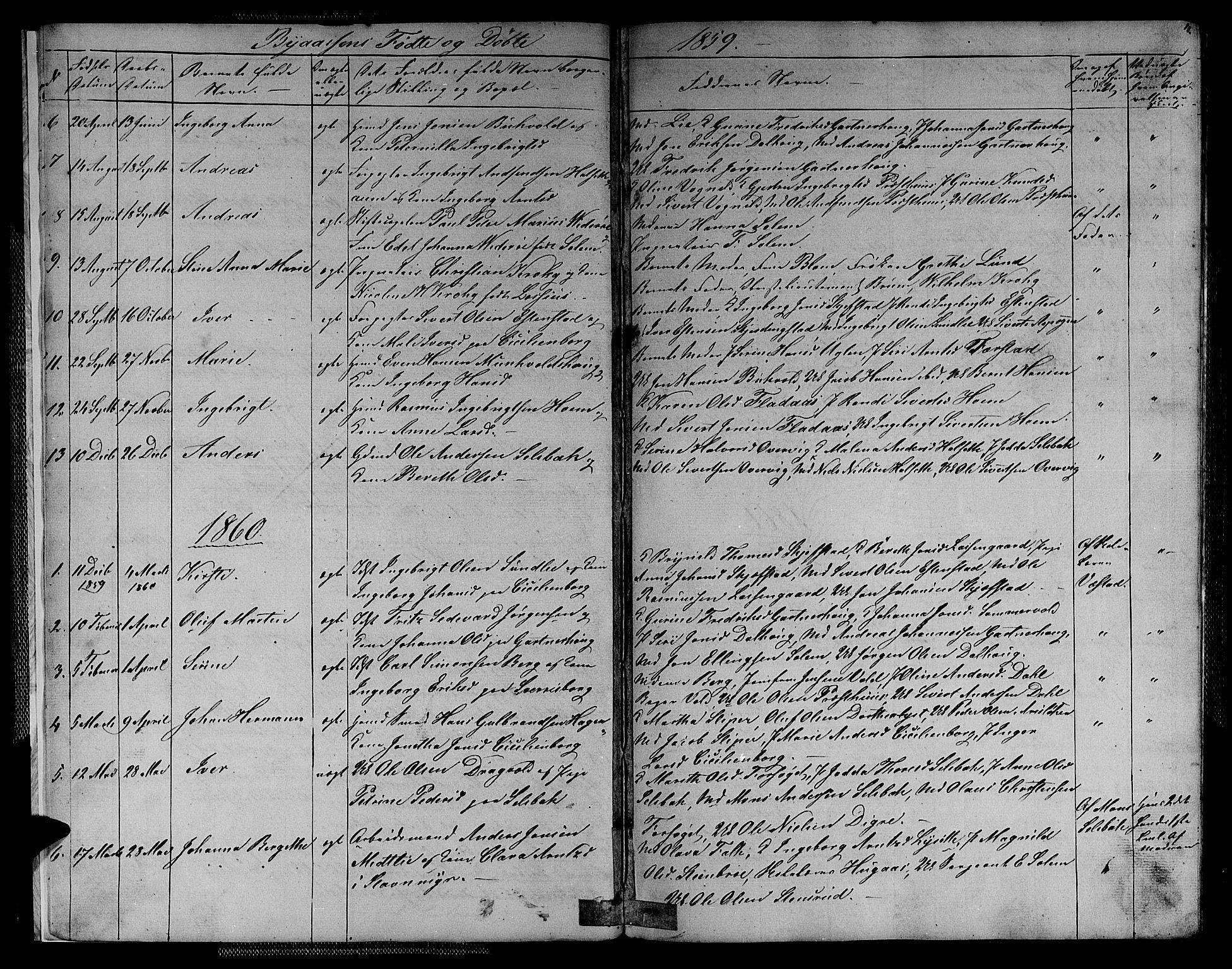 SAT, Ministerialprotokoller, klokkerbøker og fødselsregistre - Sør-Trøndelag, 611/L0353: Klokkerbok nr. 611C01, 1854-1881, s. 4