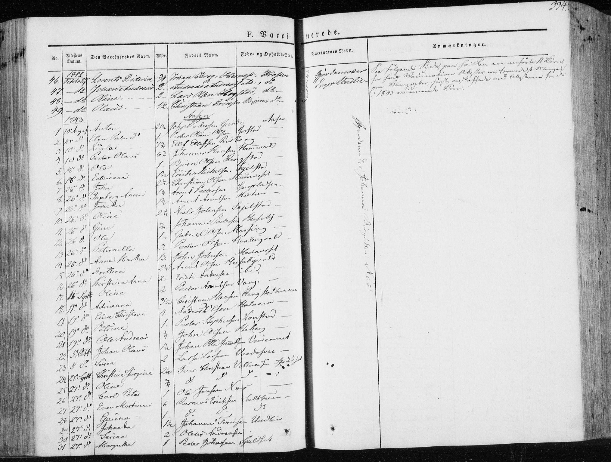 SAT, Ministerialprotokoller, klokkerbøker og fødselsregistre - Nord-Trøndelag, 713/L0115: Ministerialbok nr. 713A06, 1838-1851, s. 334