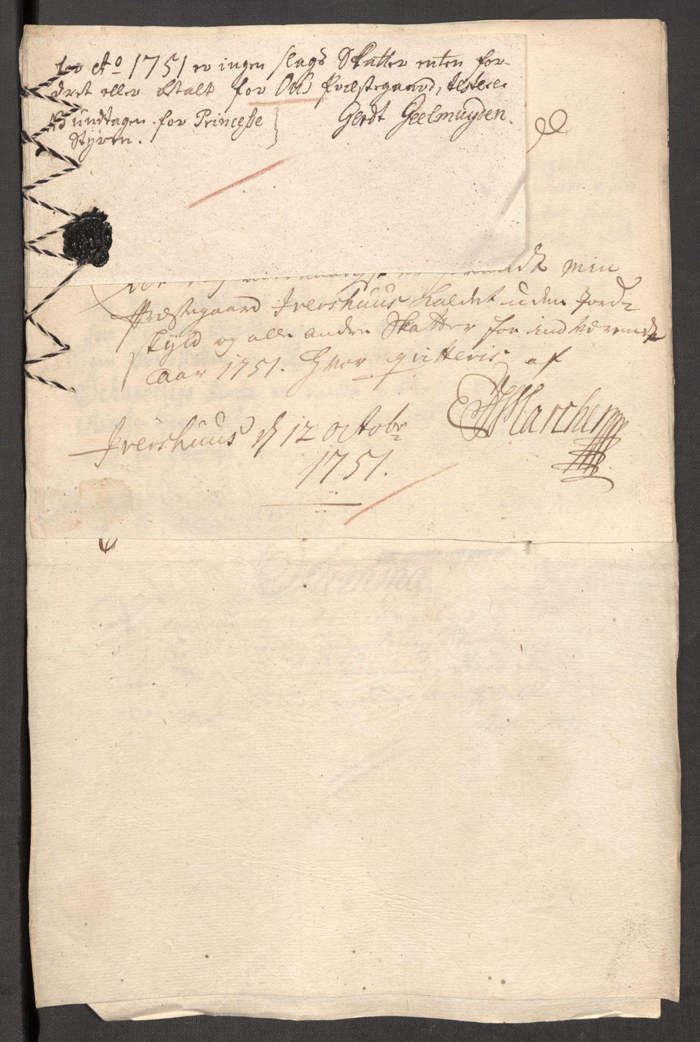 RA, Rentekammeret inntil 1814, Reviderte regnskaper, Fogderegnskap, R48/L3056: Fogderegnskap Sunnhordland og Hardanger, 1751, s. 297