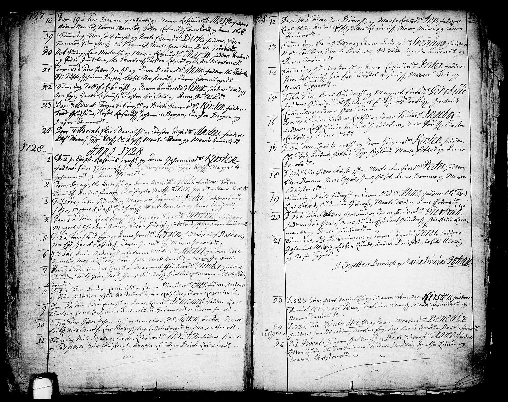 SAKO, Holla kirkebøker, F/Fa/L0001: Ministerialbok nr. 1, 1717-1779, s. 15