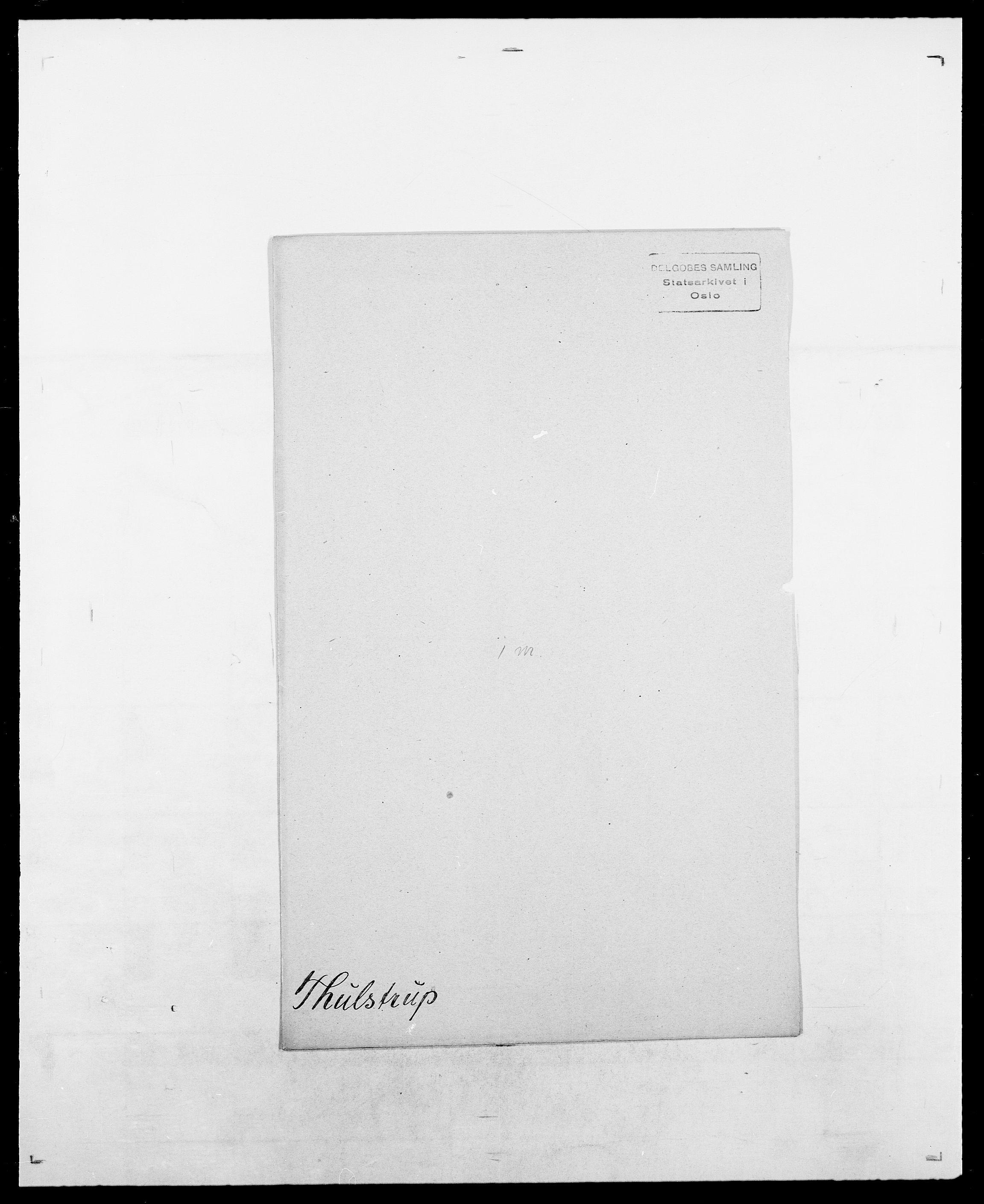 SAO, Delgobe, Charles Antoine - samling, D/Da/L0038: Svanenskjold - Thornsohn, s. 1023