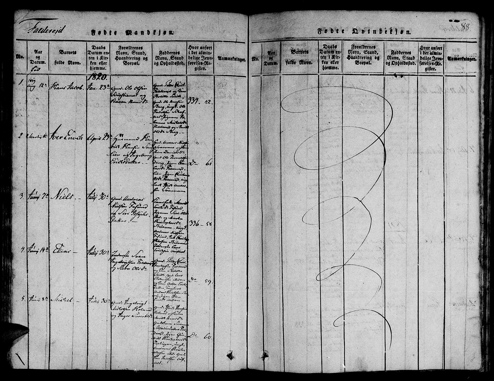 SAT, Ministerialprotokoller, klokkerbøker og fødselsregistre - Nord-Trøndelag, 780/L0636: Ministerialbok nr. 780A03 /3, 1815-1829, s. 88