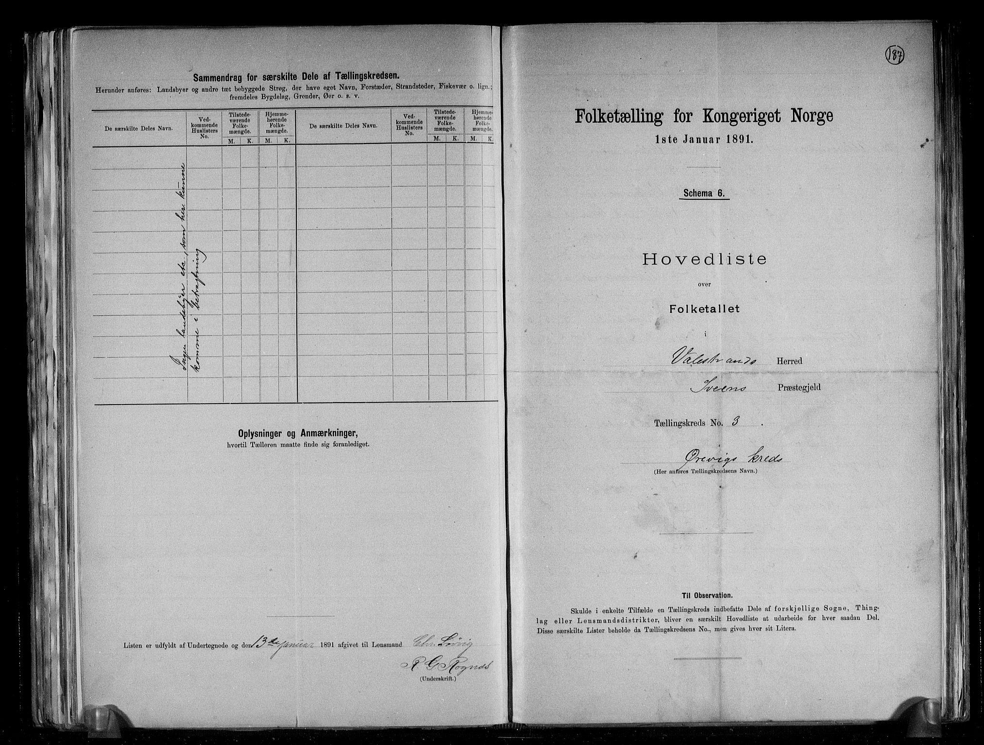 RA, Folketelling 1891 for 1217 Valestrand herred, 1891, s. 8