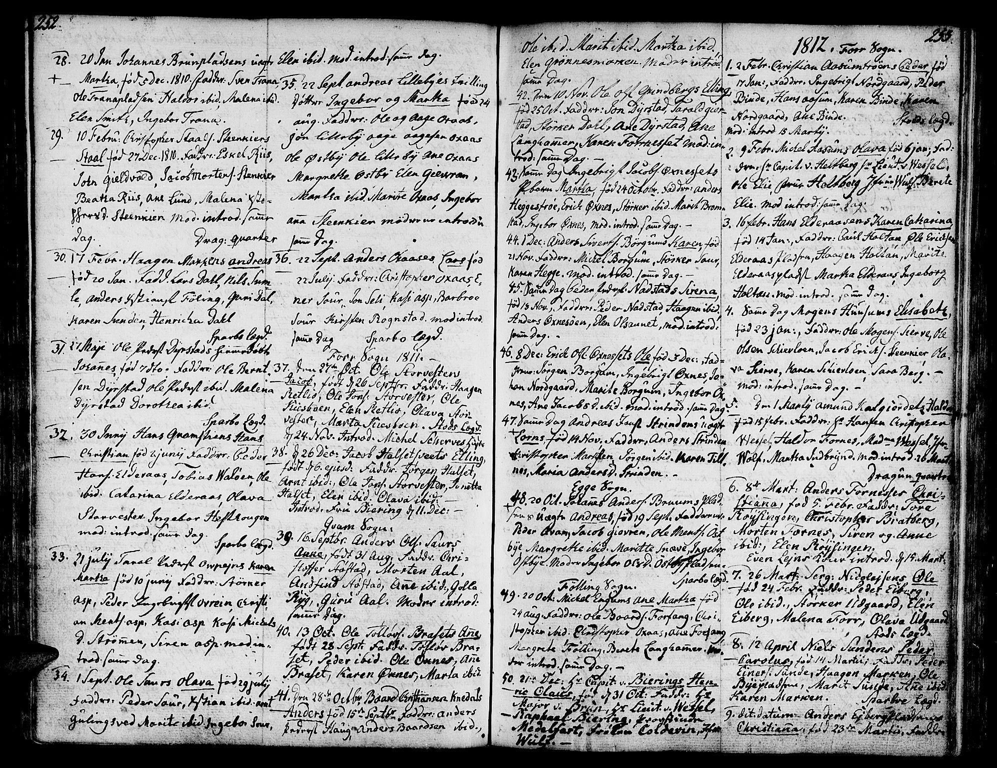 SAT, Ministerialprotokoller, klokkerbøker og fødselsregistre - Nord-Trøndelag, 746/L0440: Ministerialbok nr. 746A02, 1760-1815, s. 252-253