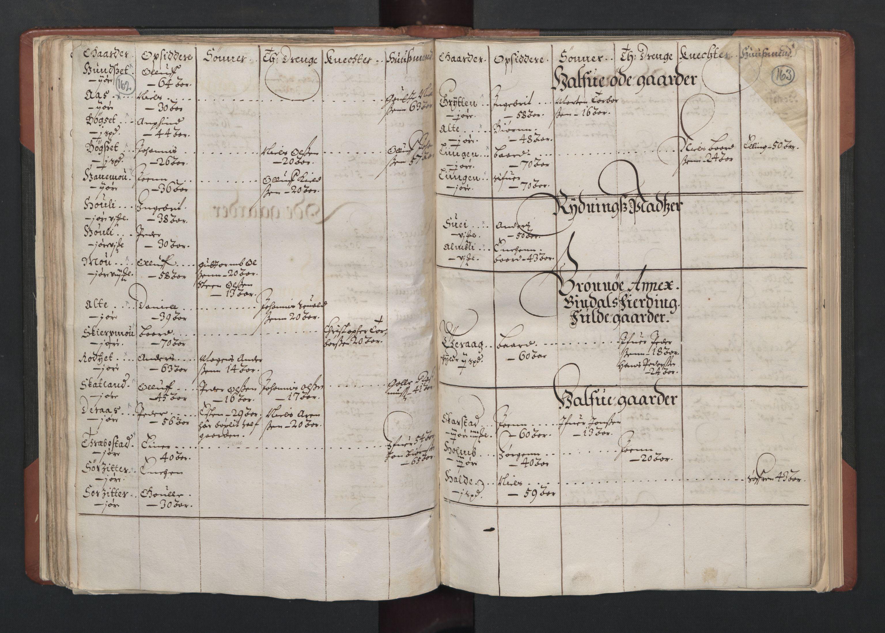 RA, Fogdenes og sorenskrivernes manntall 1664-1666, nr. 19: Fosen fogderi, Inderøy fogderi, Selbu fogderi, Namdal fogderi og Stjørdal fogderi, 1664-1665, s. 162-163