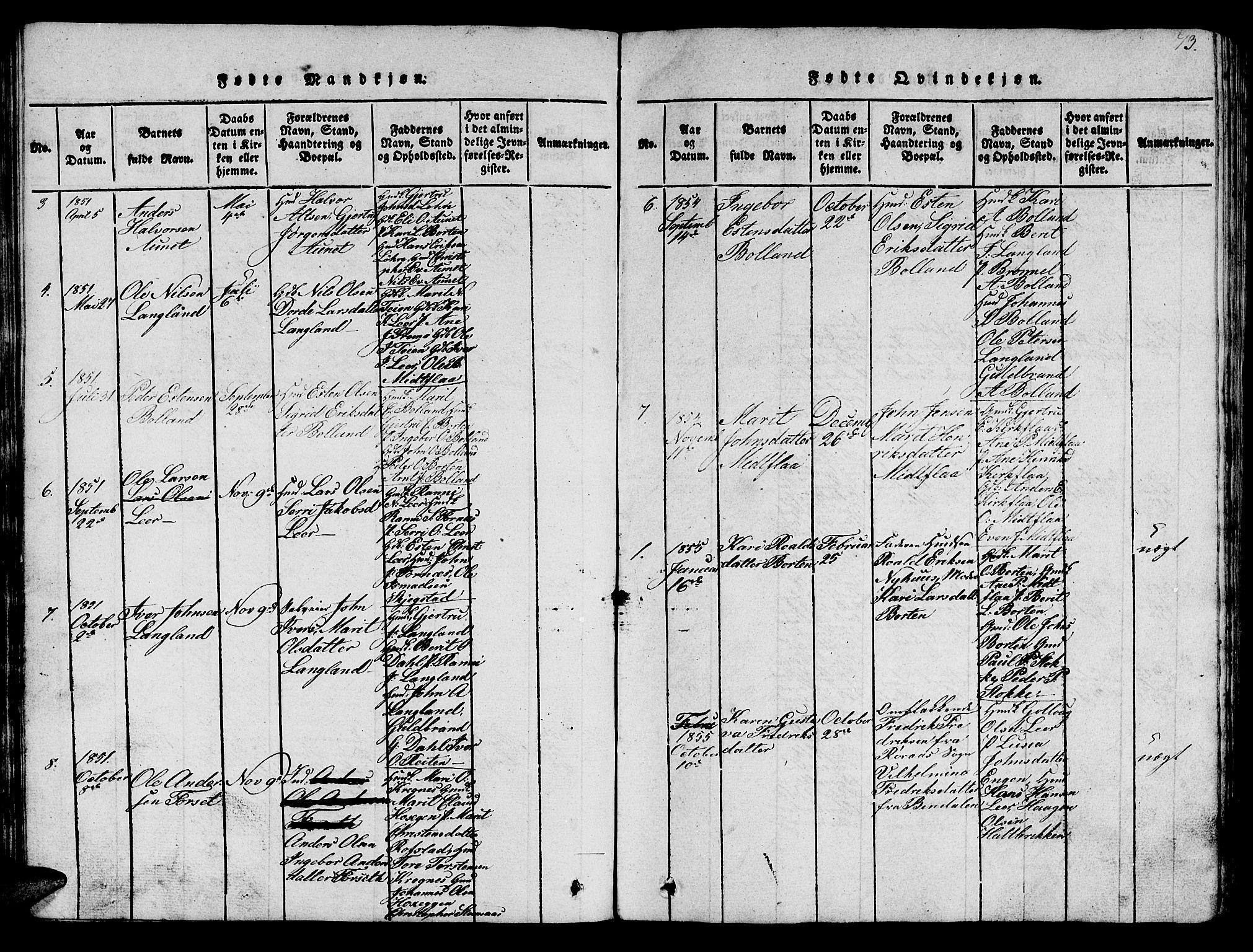 SAT, Ministerialprotokoller, klokkerbøker og fødselsregistre - Sør-Trøndelag, 693/L1121: Klokkerbok nr. 693C02, 1816-1869, s. 73